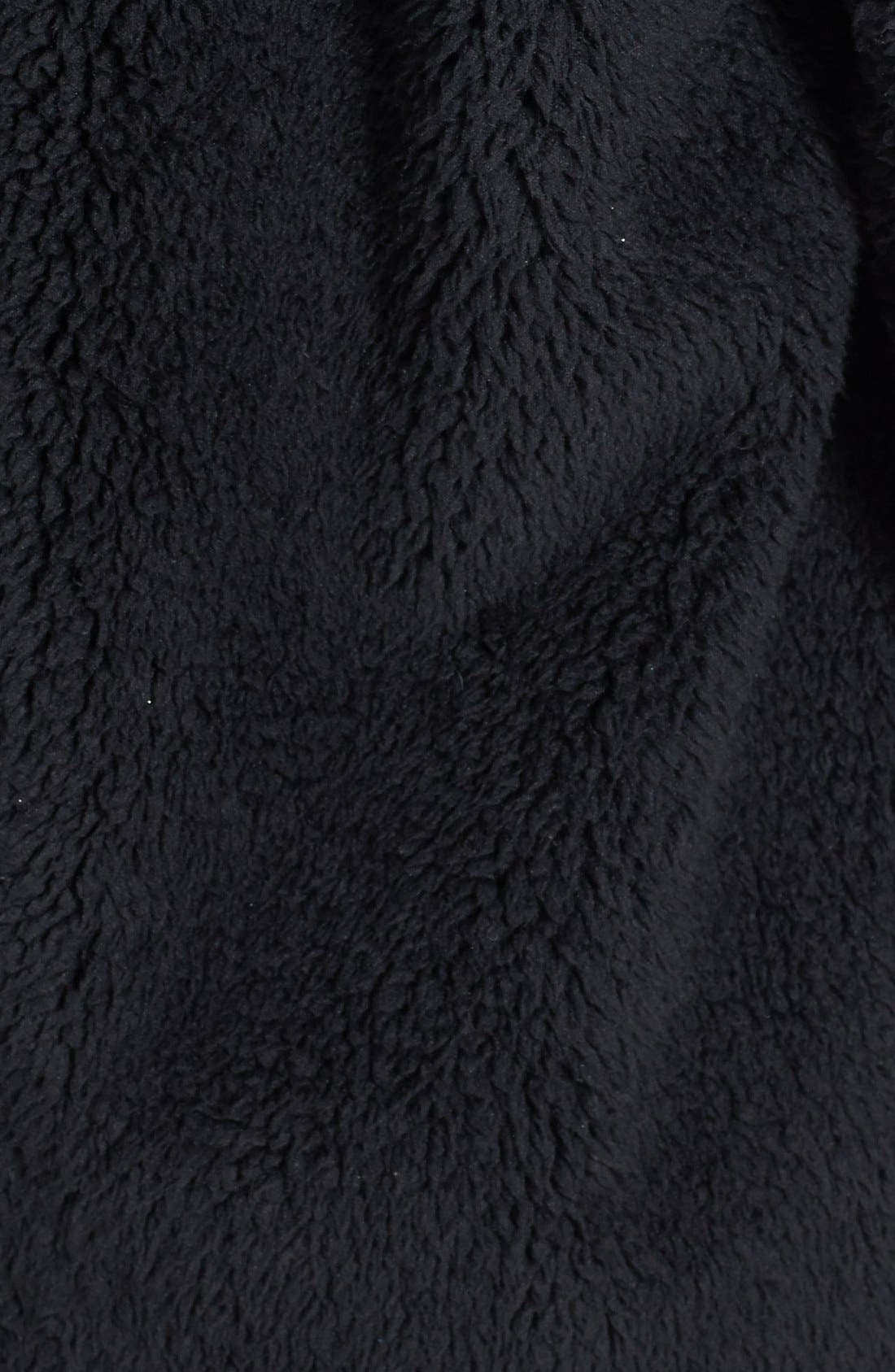 Oversized Fleece Coat,                             Alternate thumbnail 3, color,                             001