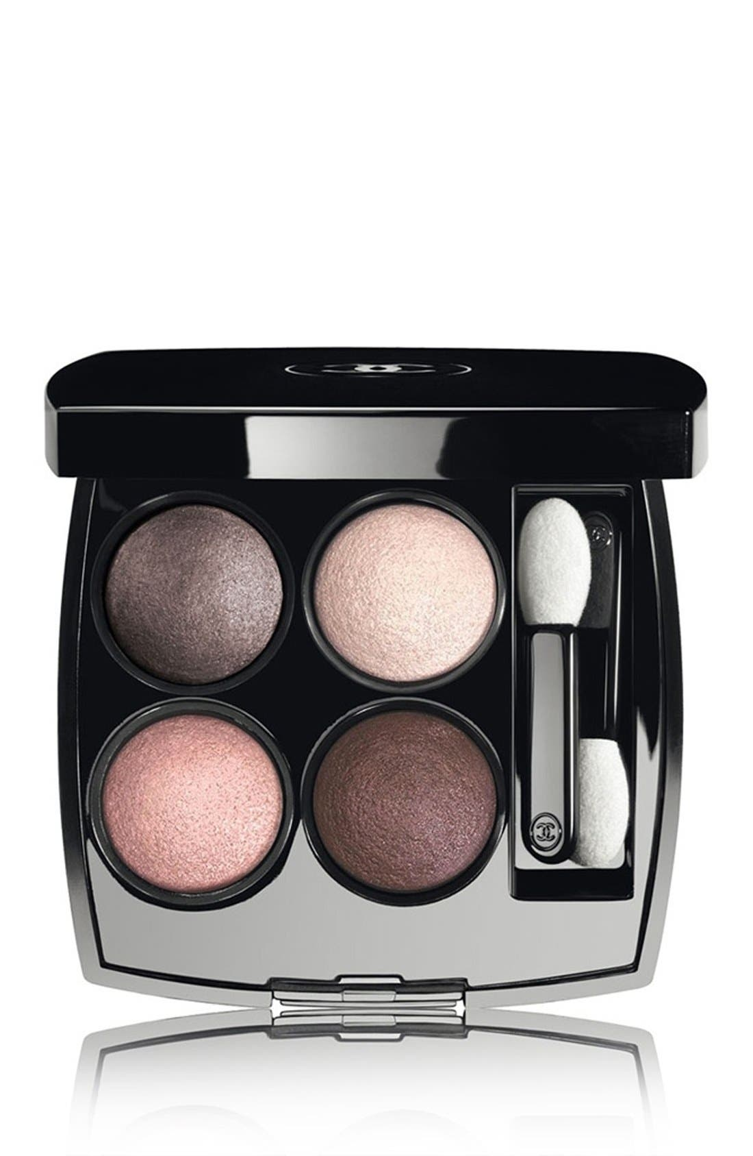 LES 4 OMBRES<br />Multi-Effect Quadra Eyeshadow,                         Main,                         color, 202 TISSE CAMELIA