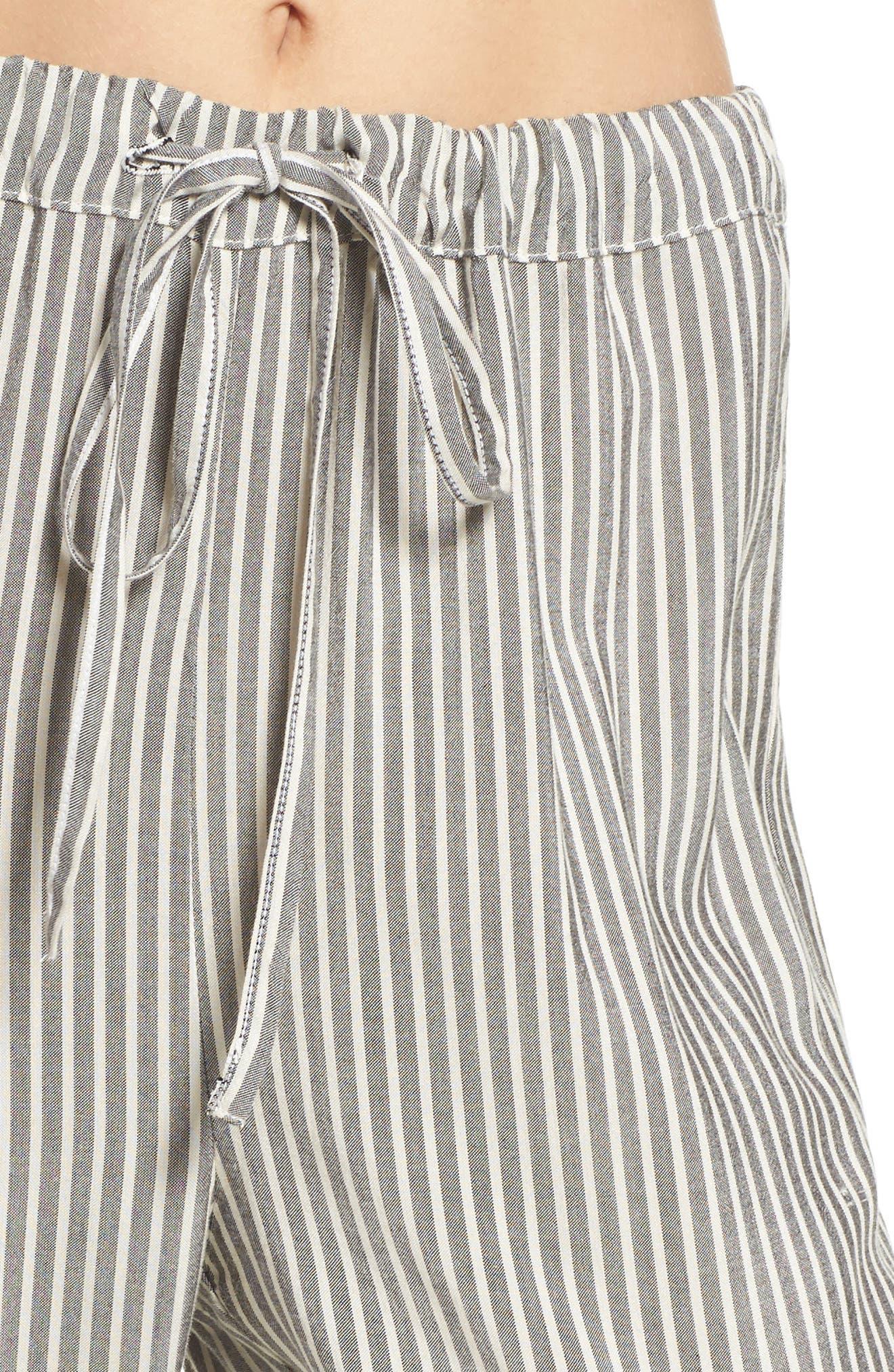Stripe Pajama Pants,                             Alternate thumbnail 4, color,                             020
