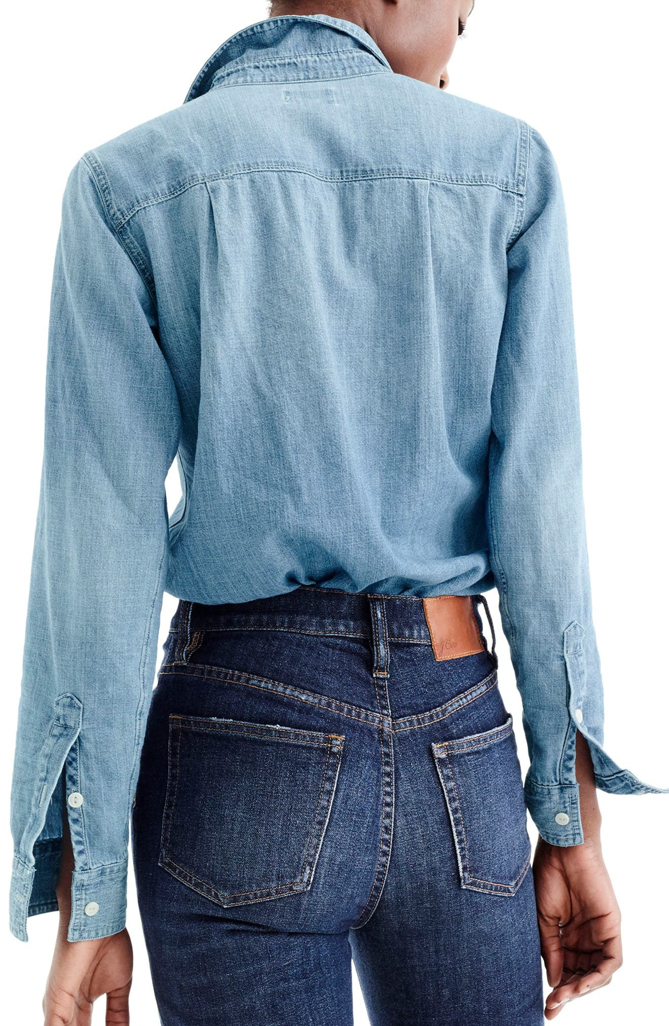 Everyday Chambray Shirt,                             Alternate thumbnail 2, color,                             MADERA WASH
