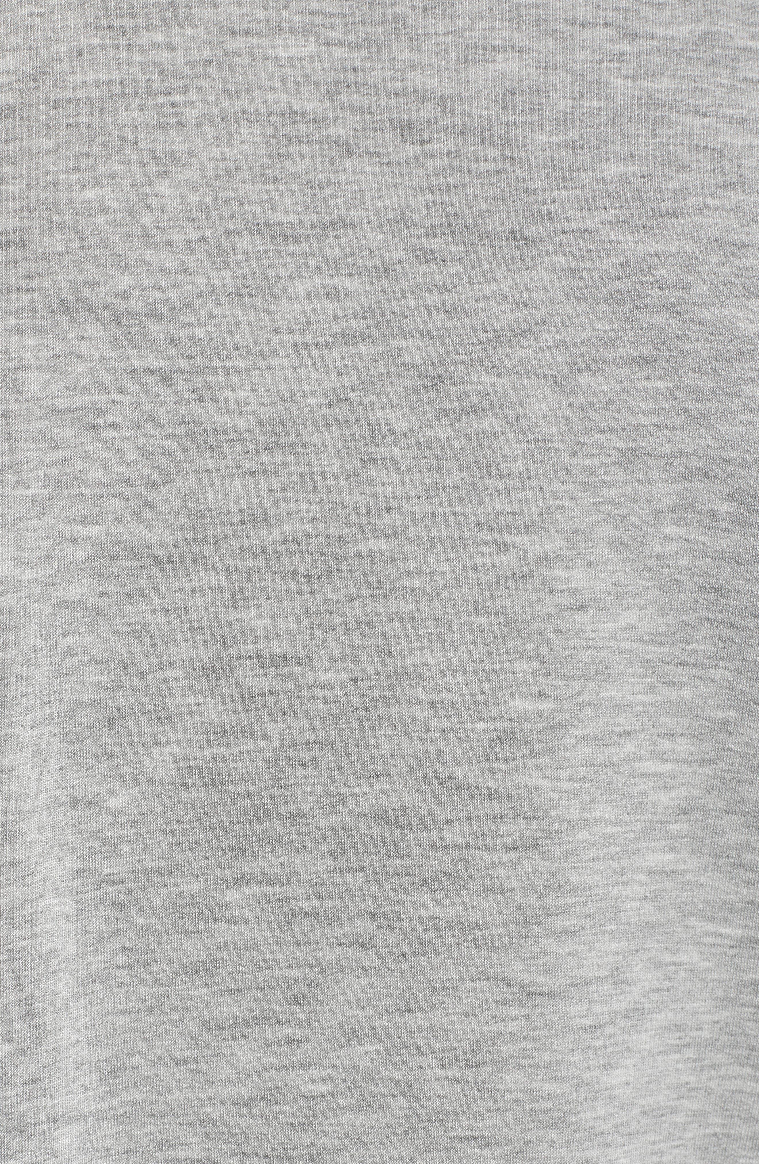 Raw Hem Sweatshirt,                             Alternate thumbnail 5, color,                             HEATHER GREY