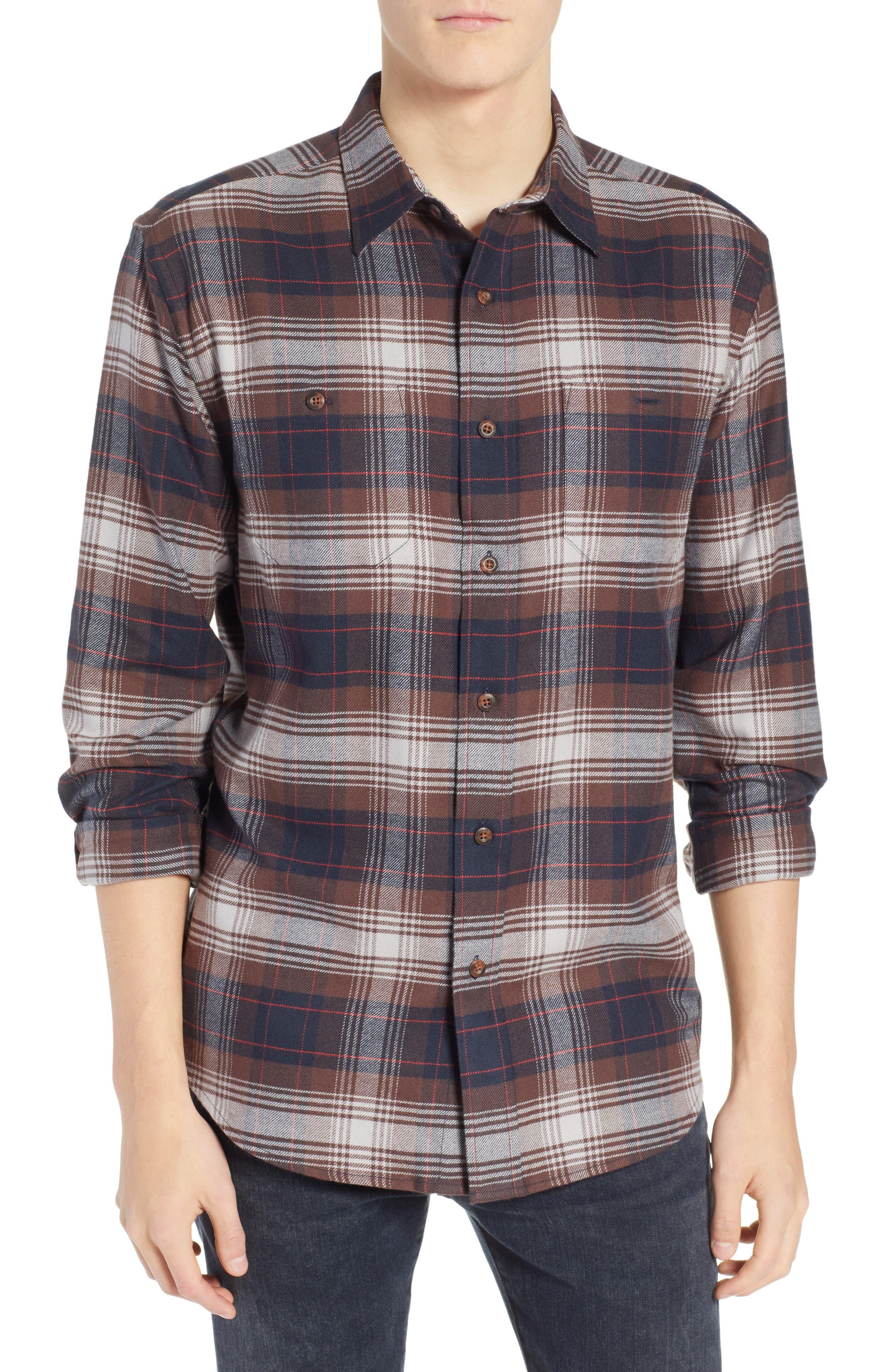 Pendleton Hawthorne Plaid Flannel Shirt, Brown