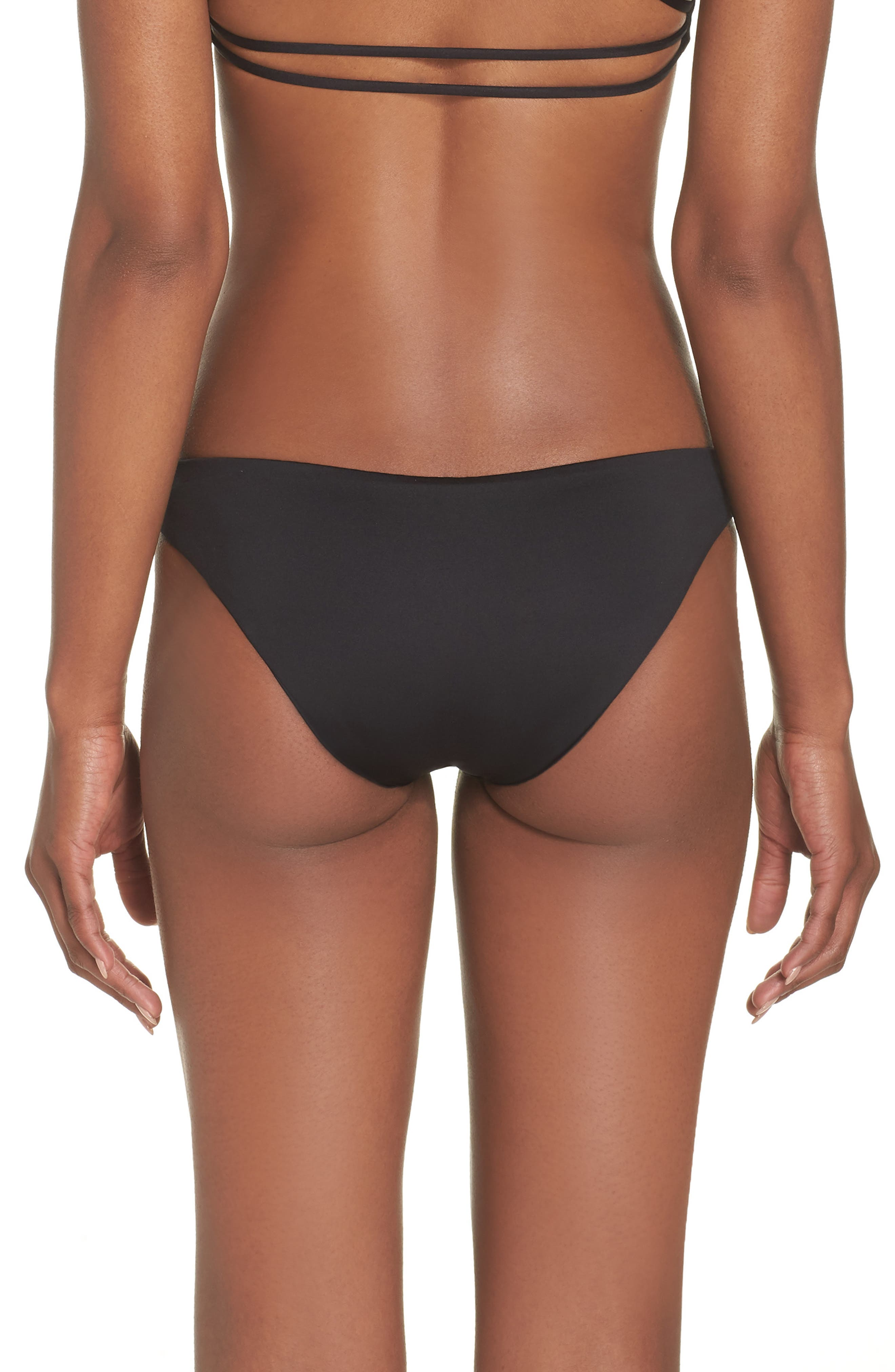 Seaglass Bay Reversible Bikini Bottoms,                             Alternate thumbnail 2, color,                             BLACK