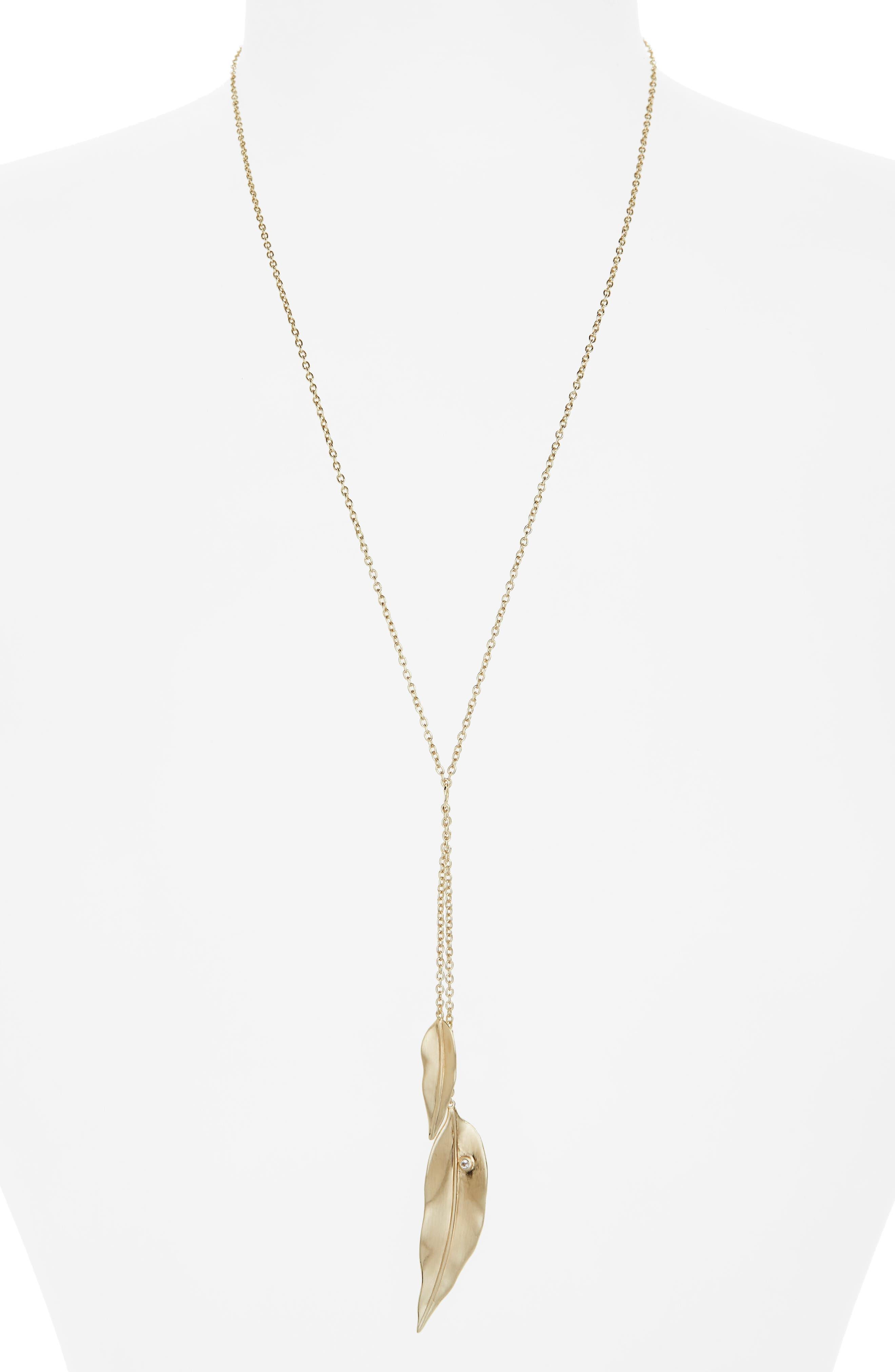 Y-Pendant Necklace,                         Main,                         color, 715