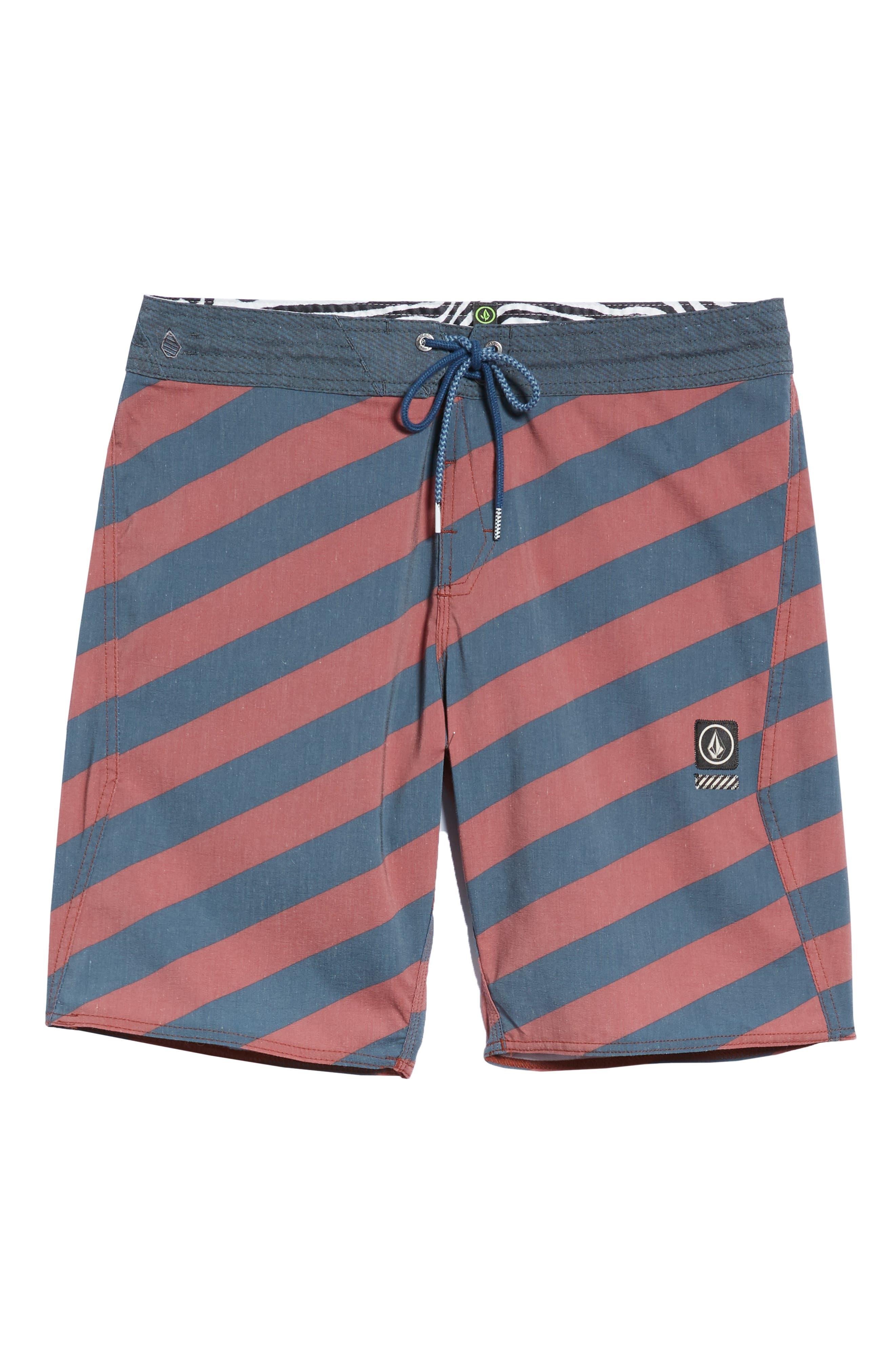 Stripey Stoney Boardshorts,                             Alternate thumbnail 6, color,                             RUST