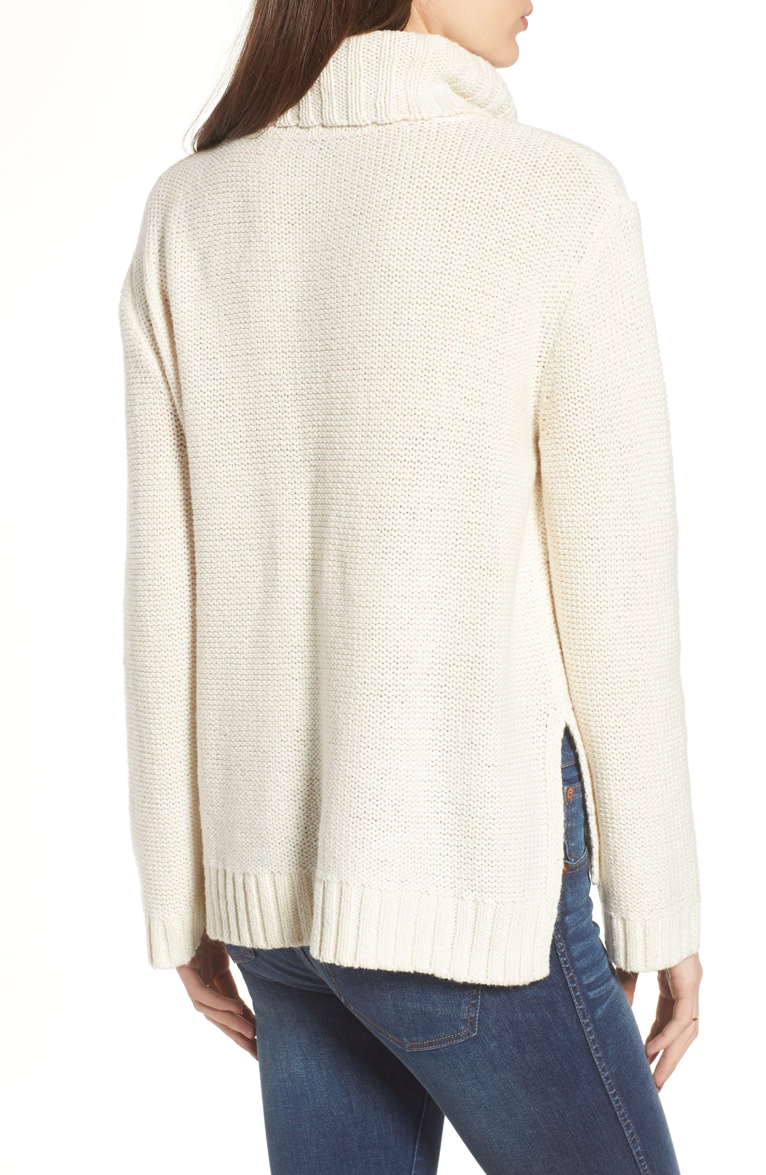 Flecked Turtleneck Sweater,                             Alternate thumbnail 2, color,                             100
