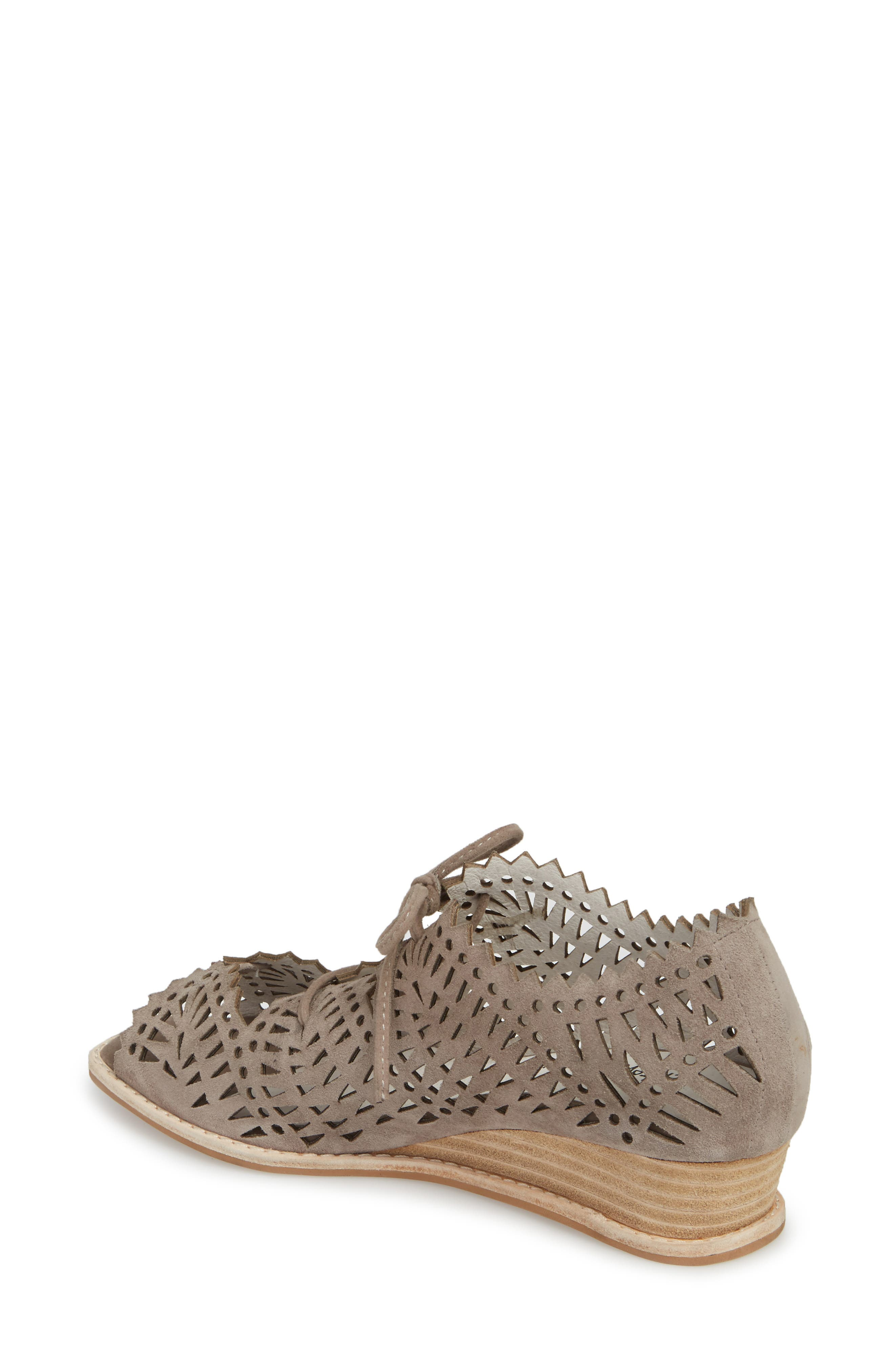 Espejo Lace-Up Wedge,                             Alternate thumbnail 2, color,                             TAUPE SUEDE