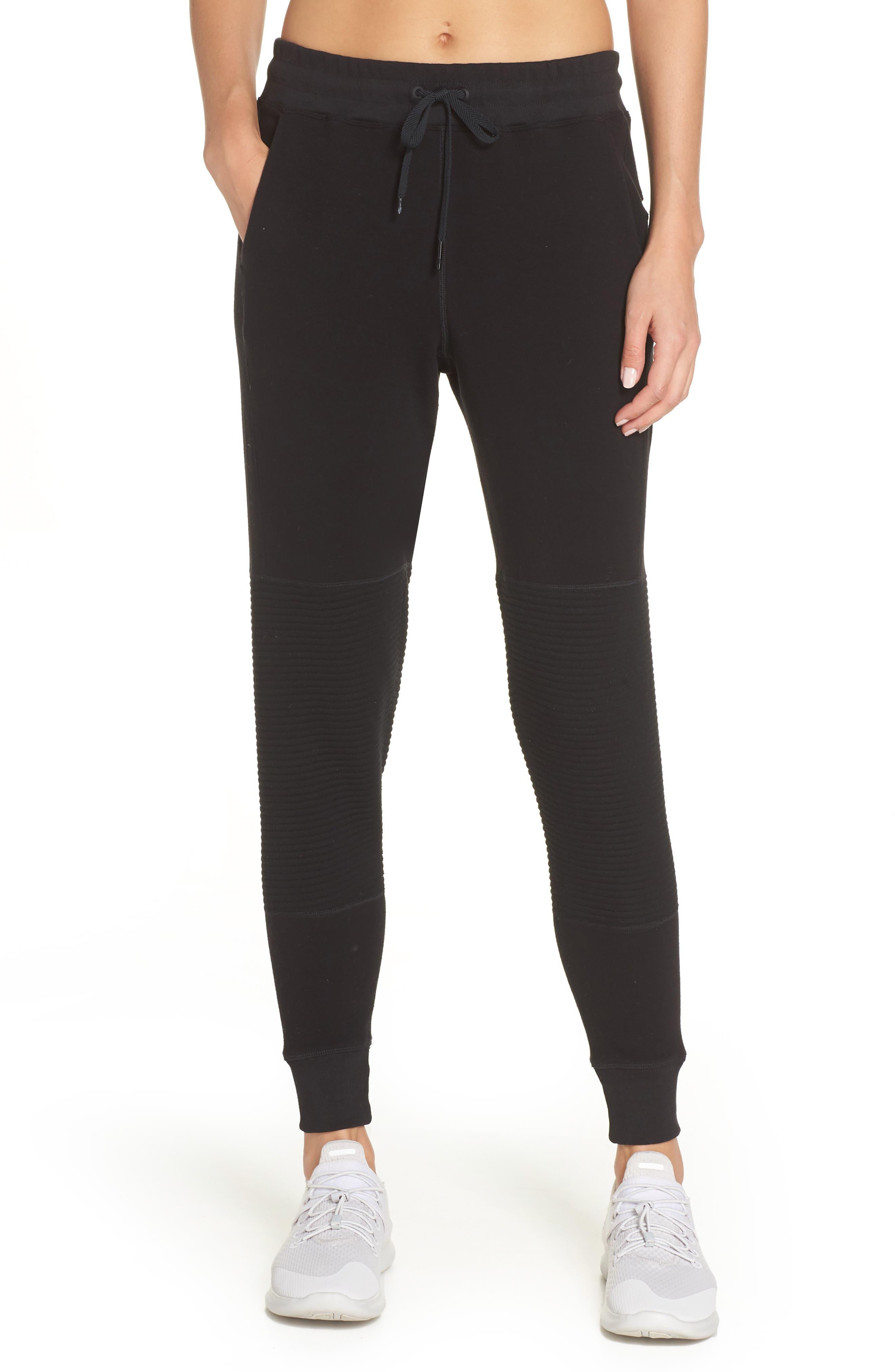 Moto Sweatpants,                         Main,                         color, BLACK