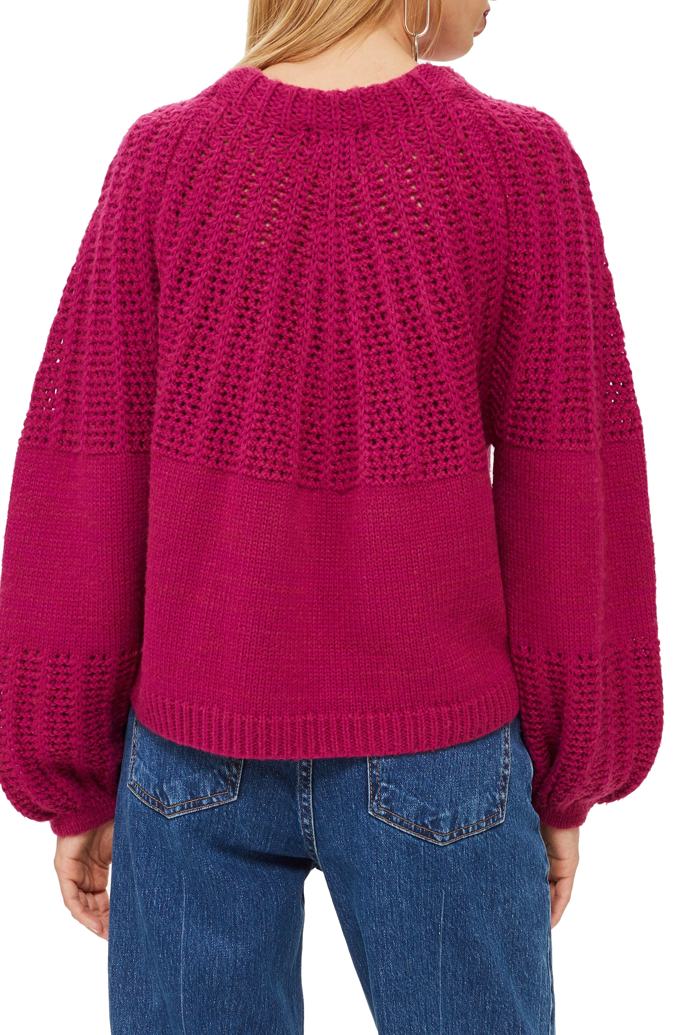 Pointelle Ball Sleeve Sweater,                             Alternate thumbnail 2, color,                             500