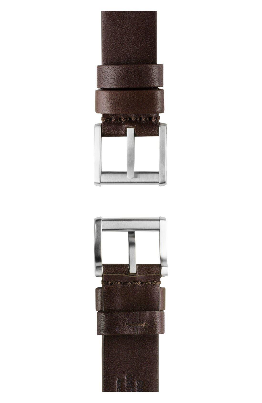 SHINOLA,                             x Filson The Smokey Bear Leather Strap Watch Gift Set, 43mm,                             Alternate thumbnail 4, color,                             200