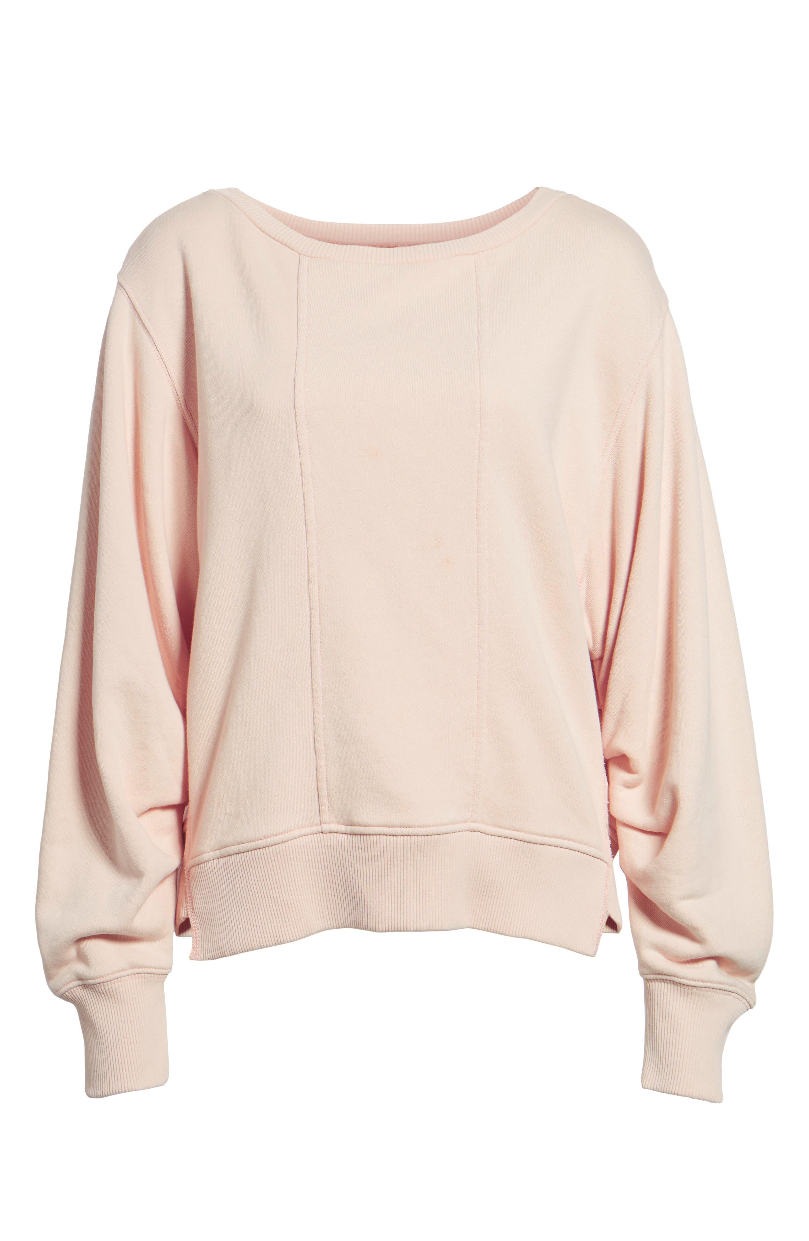 Seamed Sweatshirt,                             Alternate thumbnail 6, color,