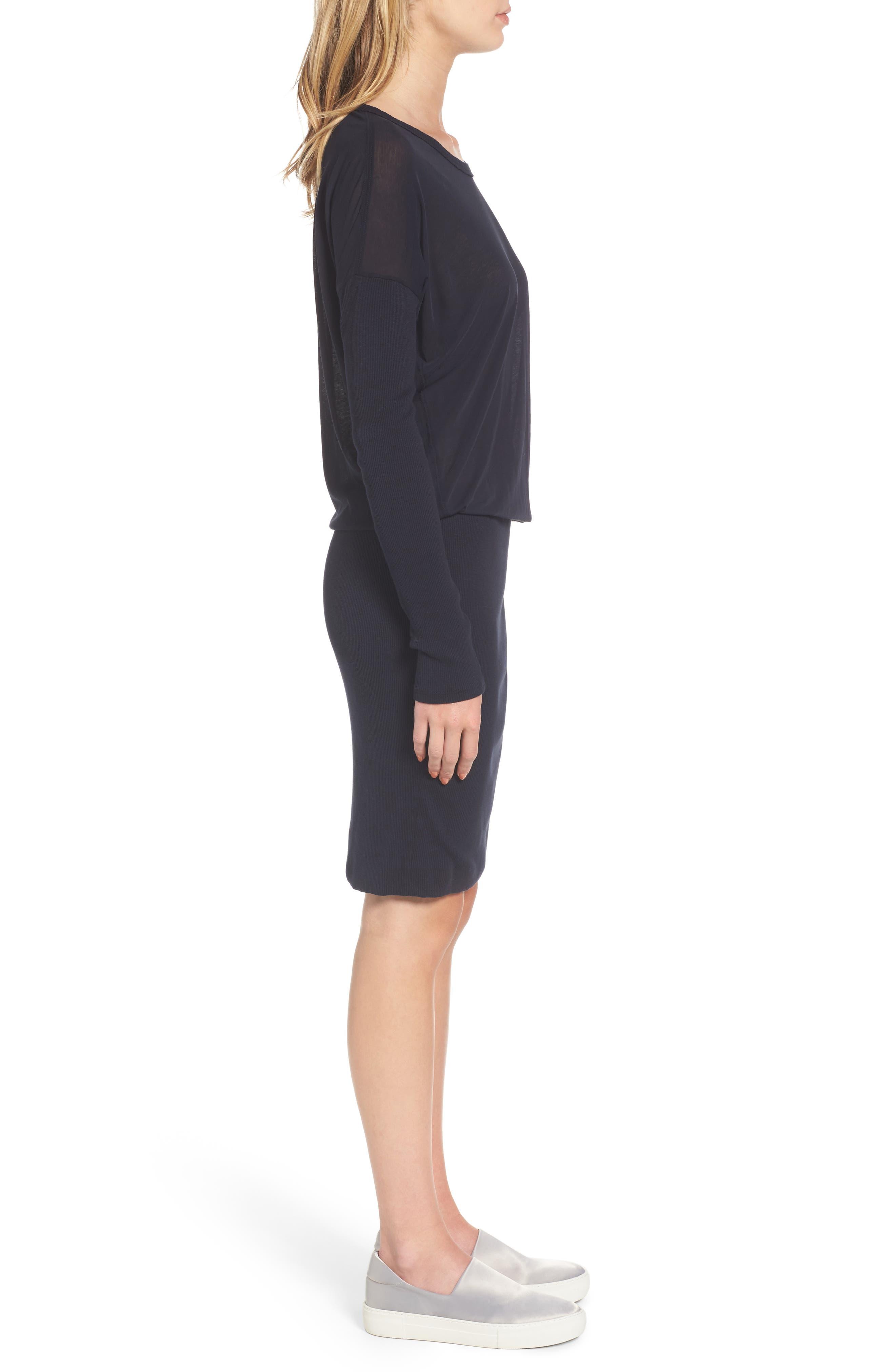 Blouson T-Shirt Dress,                             Alternate thumbnail 3, color,                             415