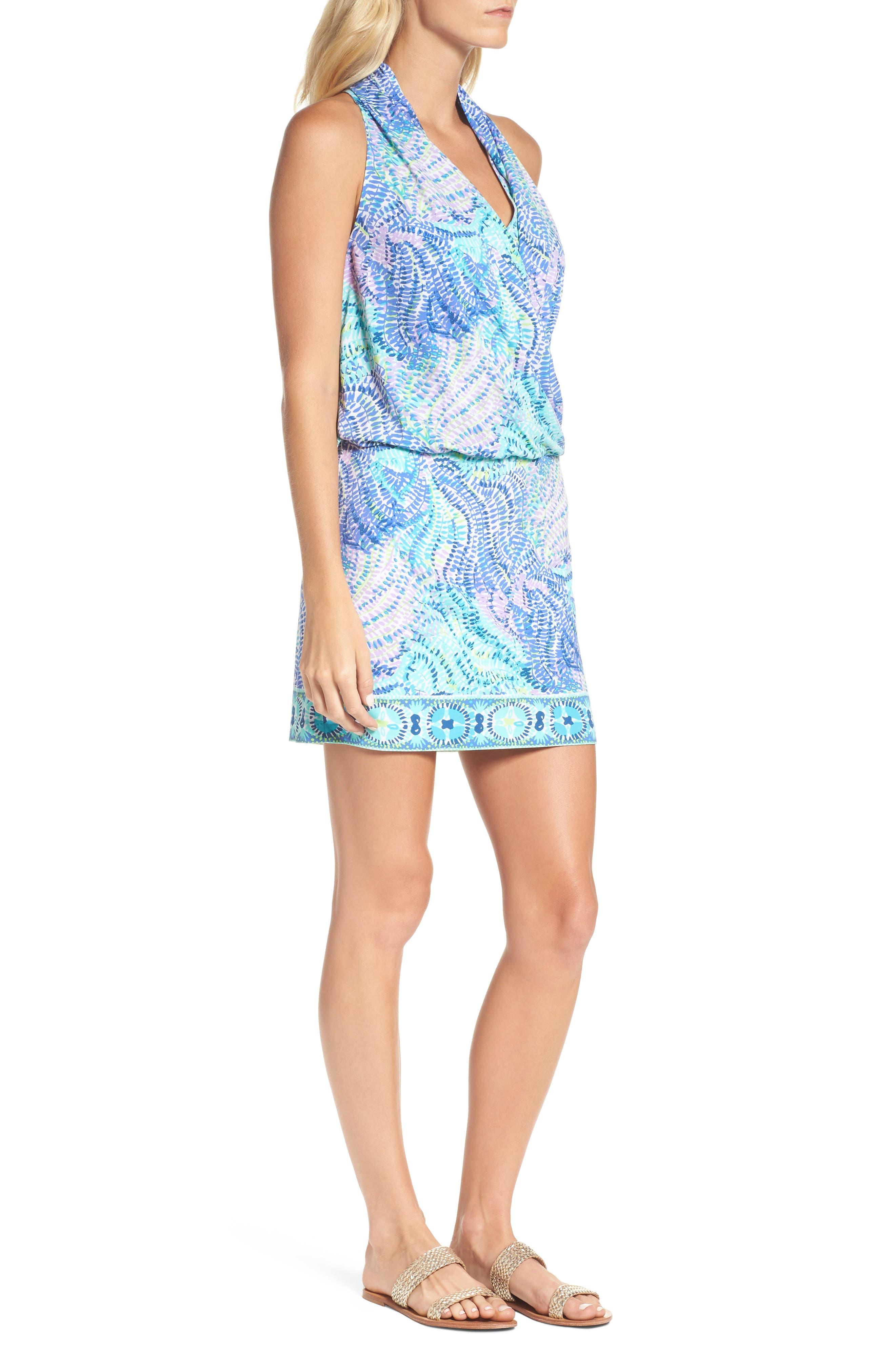 Felizia Blouson Dress,                             Alternate thumbnail 3, color,                             444