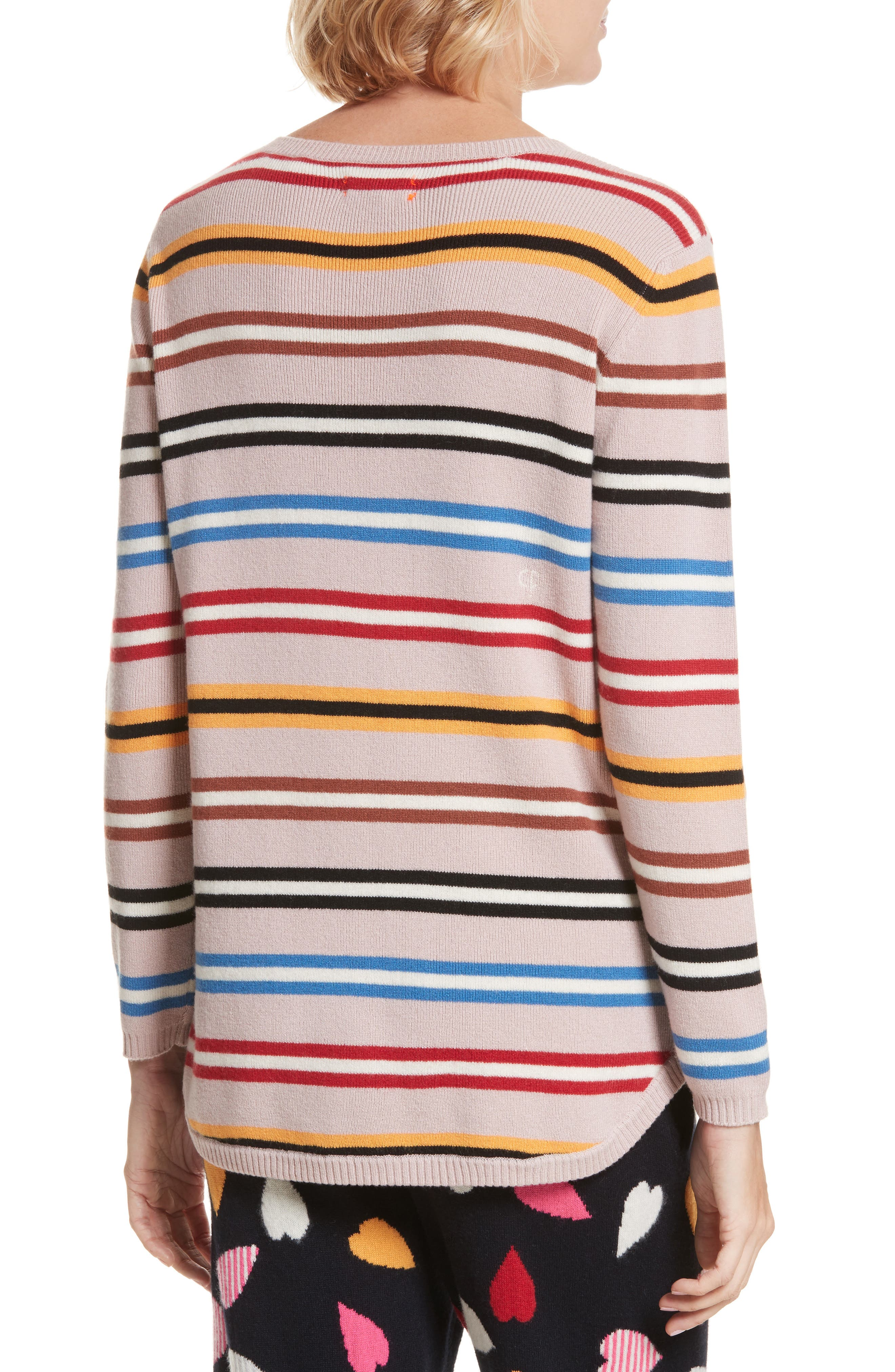 Stripe Cashmere Sweater,                             Alternate thumbnail 2, color,                             250