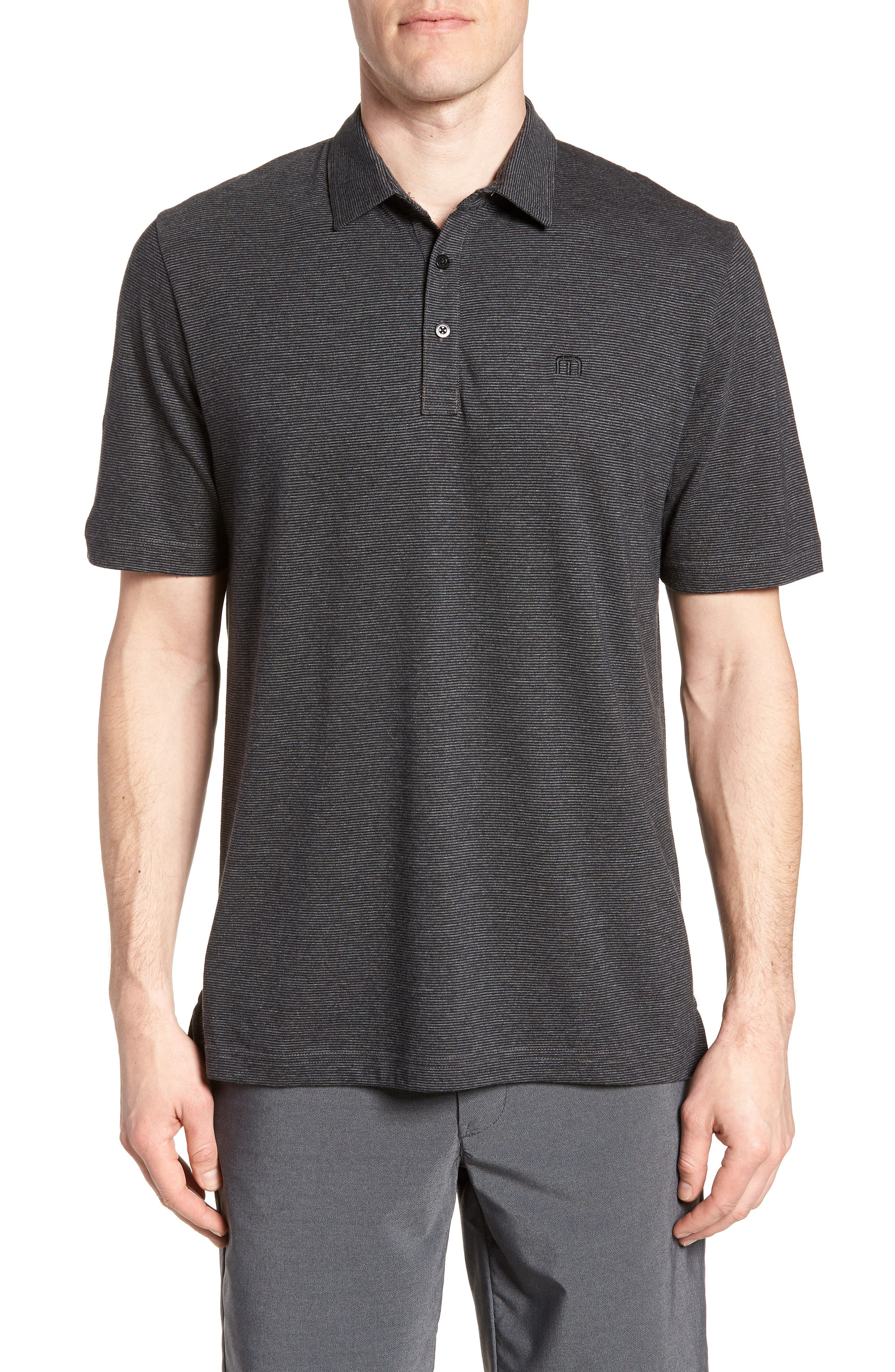 TRAVIS MATHEW,                             JQ Regular Fit Stripe Polo,                             Main thumbnail 1, color,                             020