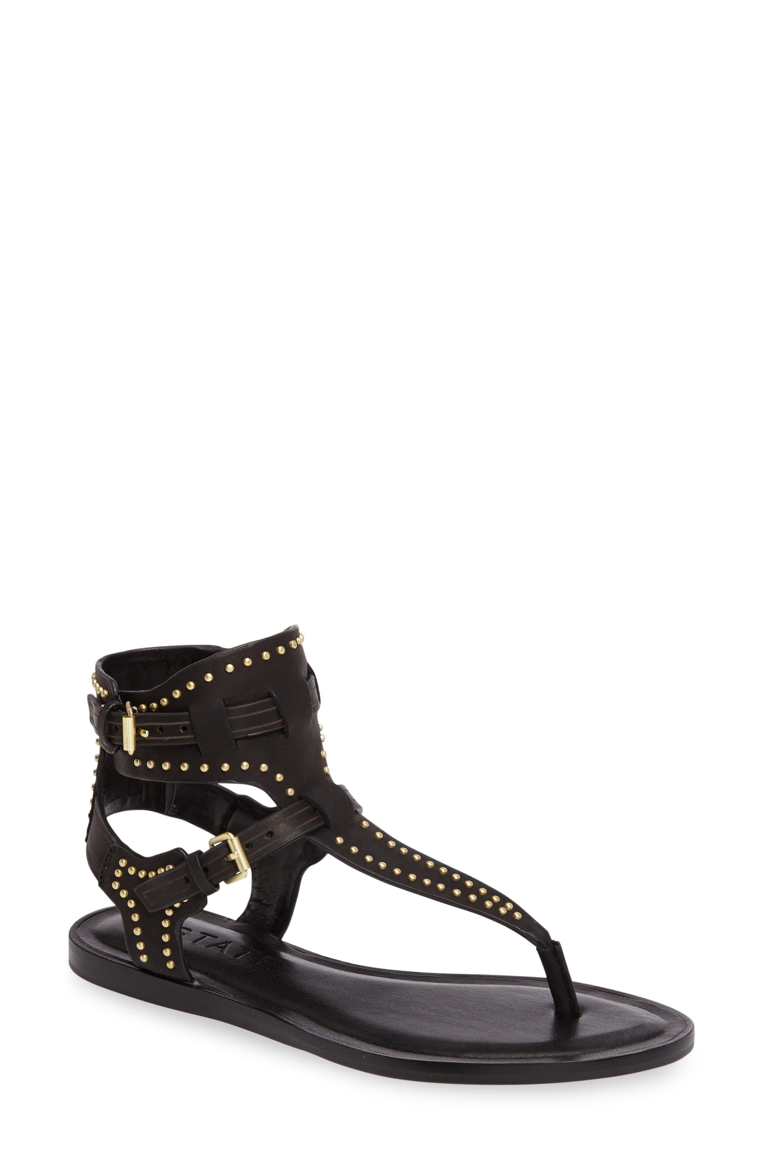 Lamanna Ankle Strap Sandal,                             Main thumbnail 1, color,                             001
