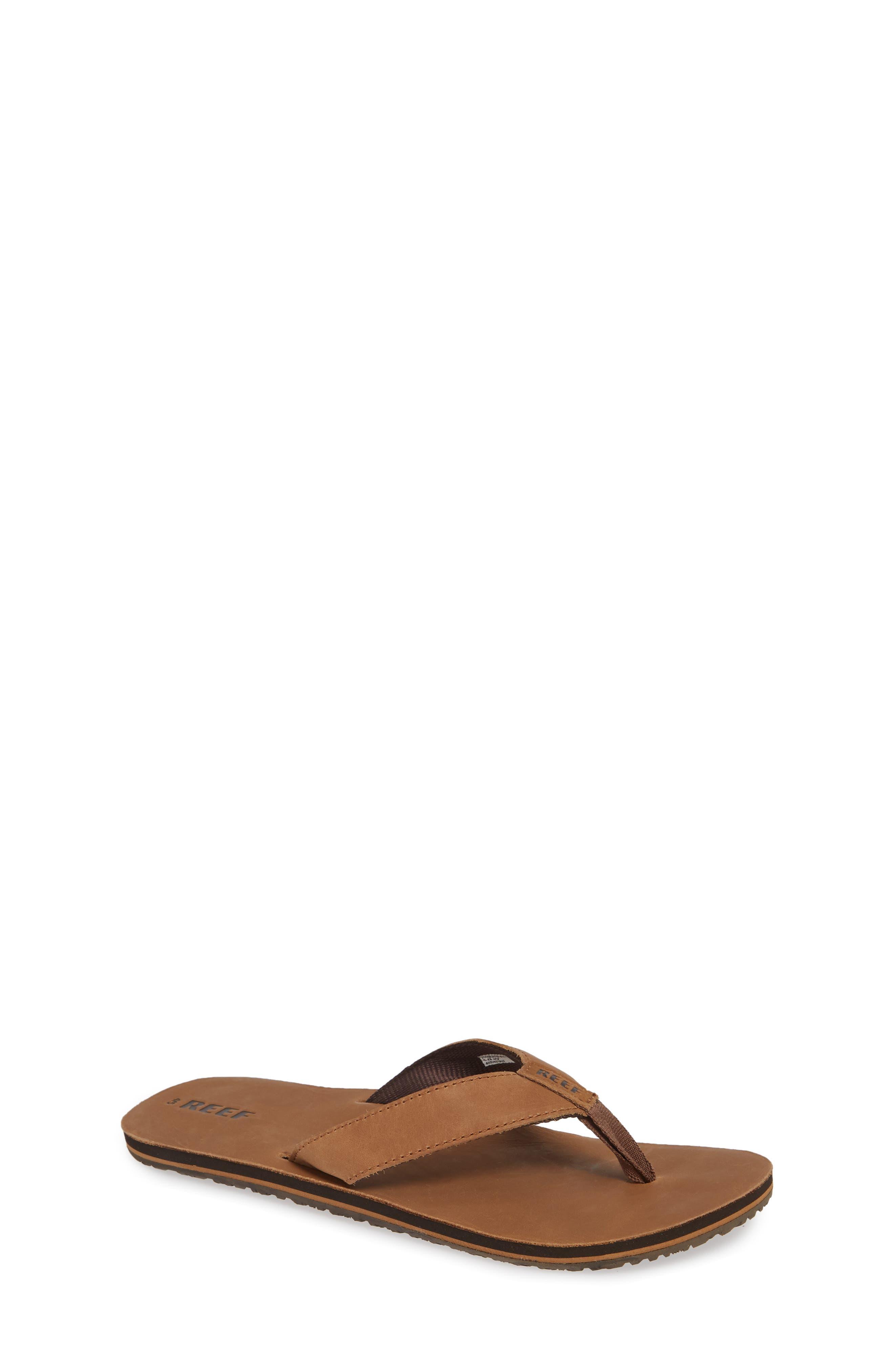 'Grom' Leather Flip-Flop,                             Main thumbnail 1, color,                             200