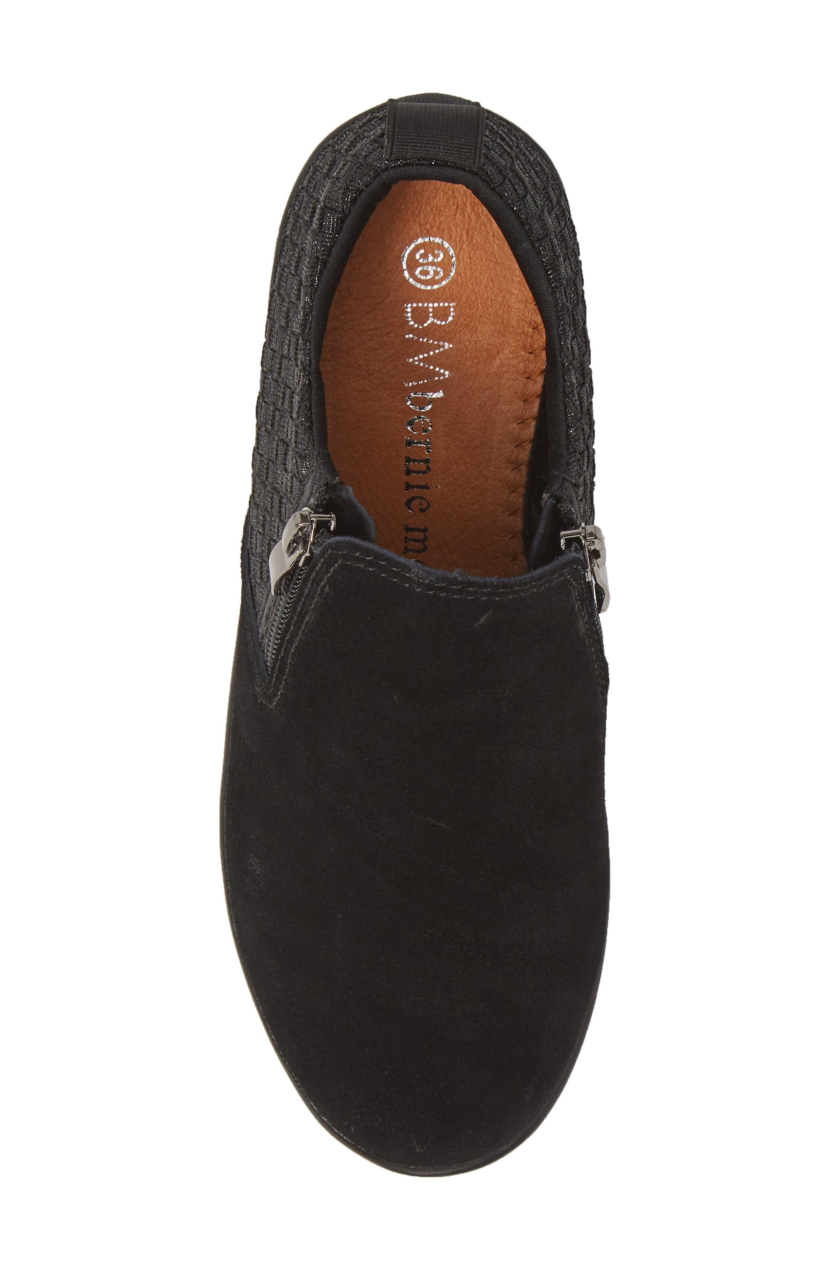 Lihi Ankle Boot,                             Alternate thumbnail 5, color,                             BLACK METALLIC LEATHER