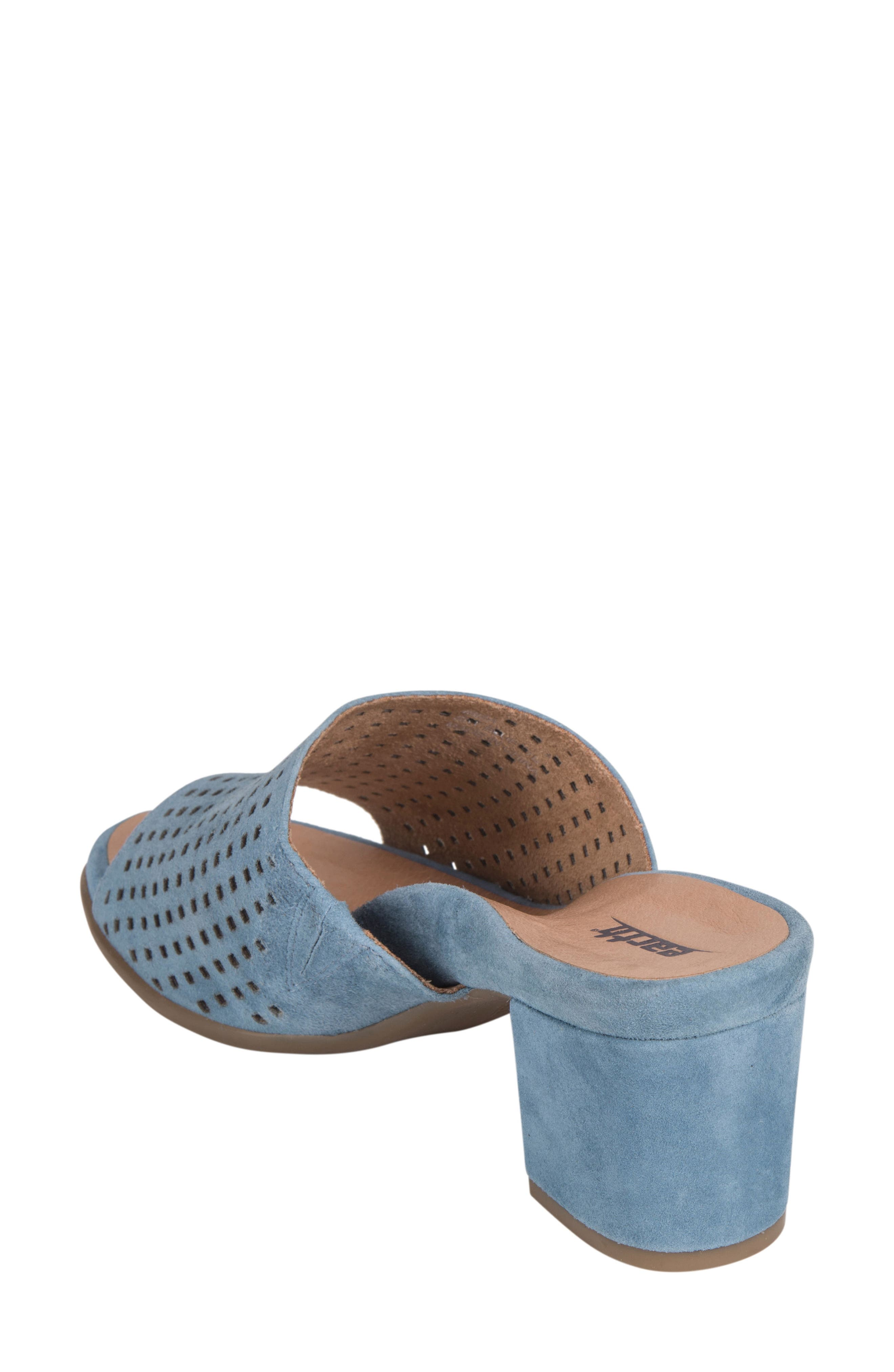 Ibiza Perforated Sandal,                             Alternate thumbnail 2, color,                             SKY BLUE SUEDE