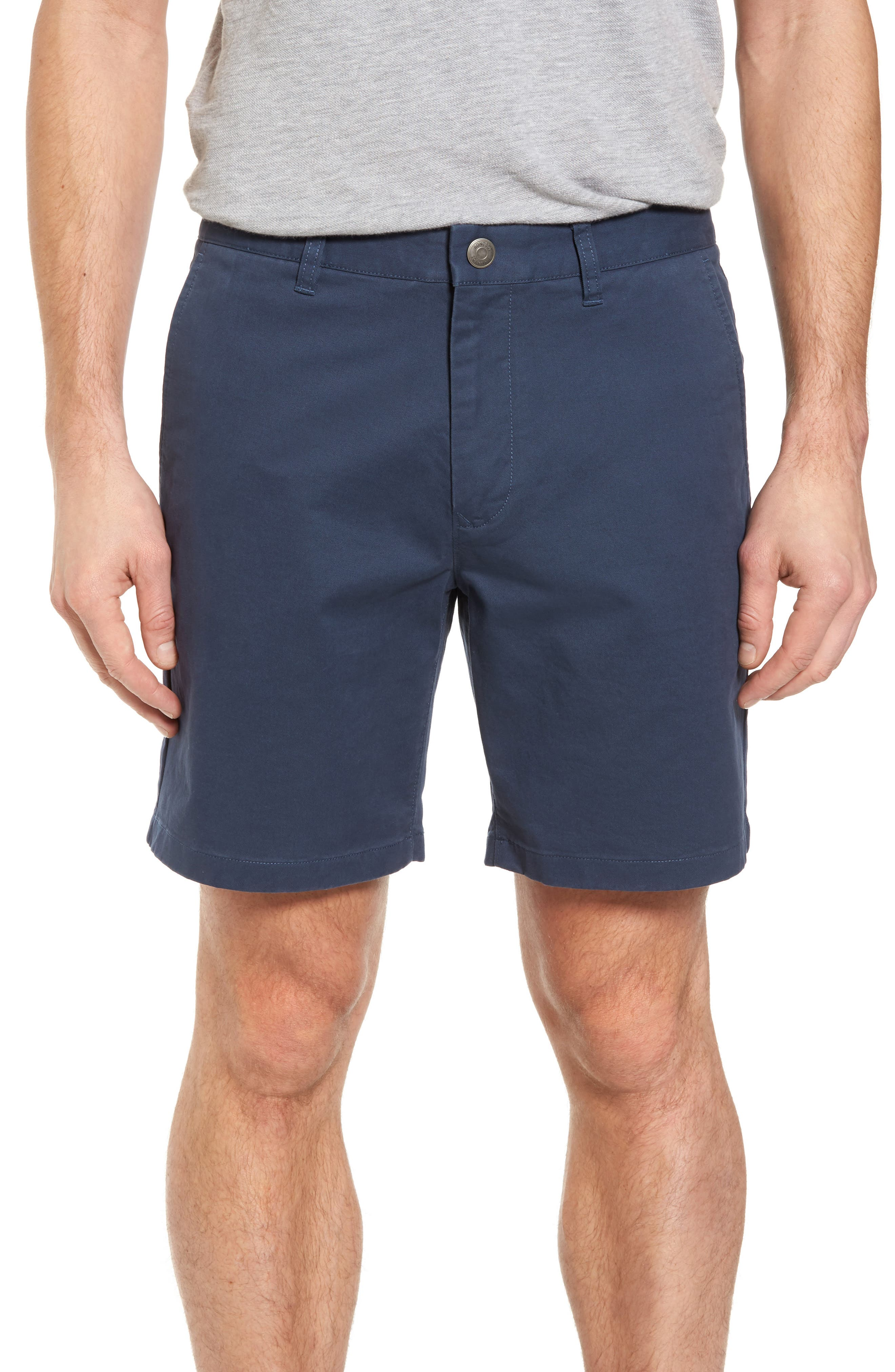 Stretch Washed Chino 7-Inch Shorts,                         Main,                         color, STEELY