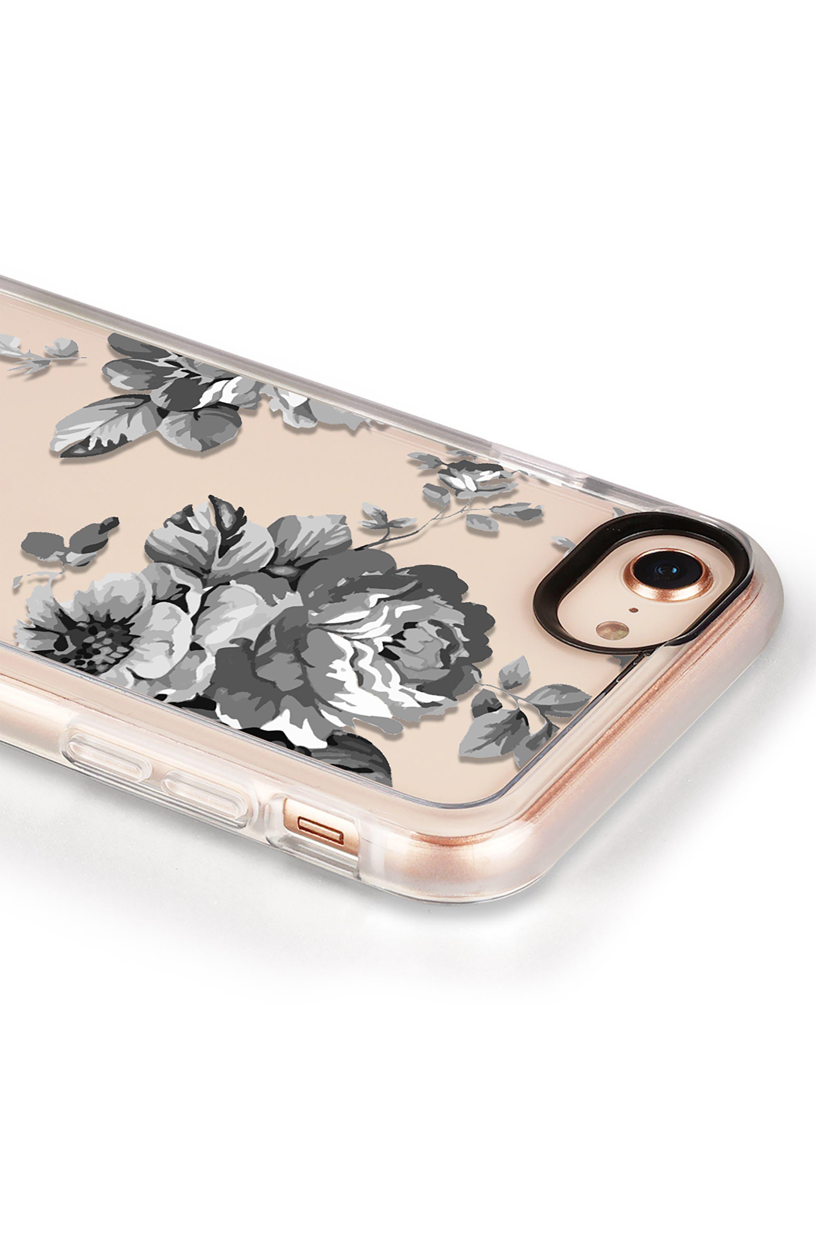 Black Floral iPhone 7/8 & 7/8 Plus Case,                             Alternate thumbnail 4, color,                             020