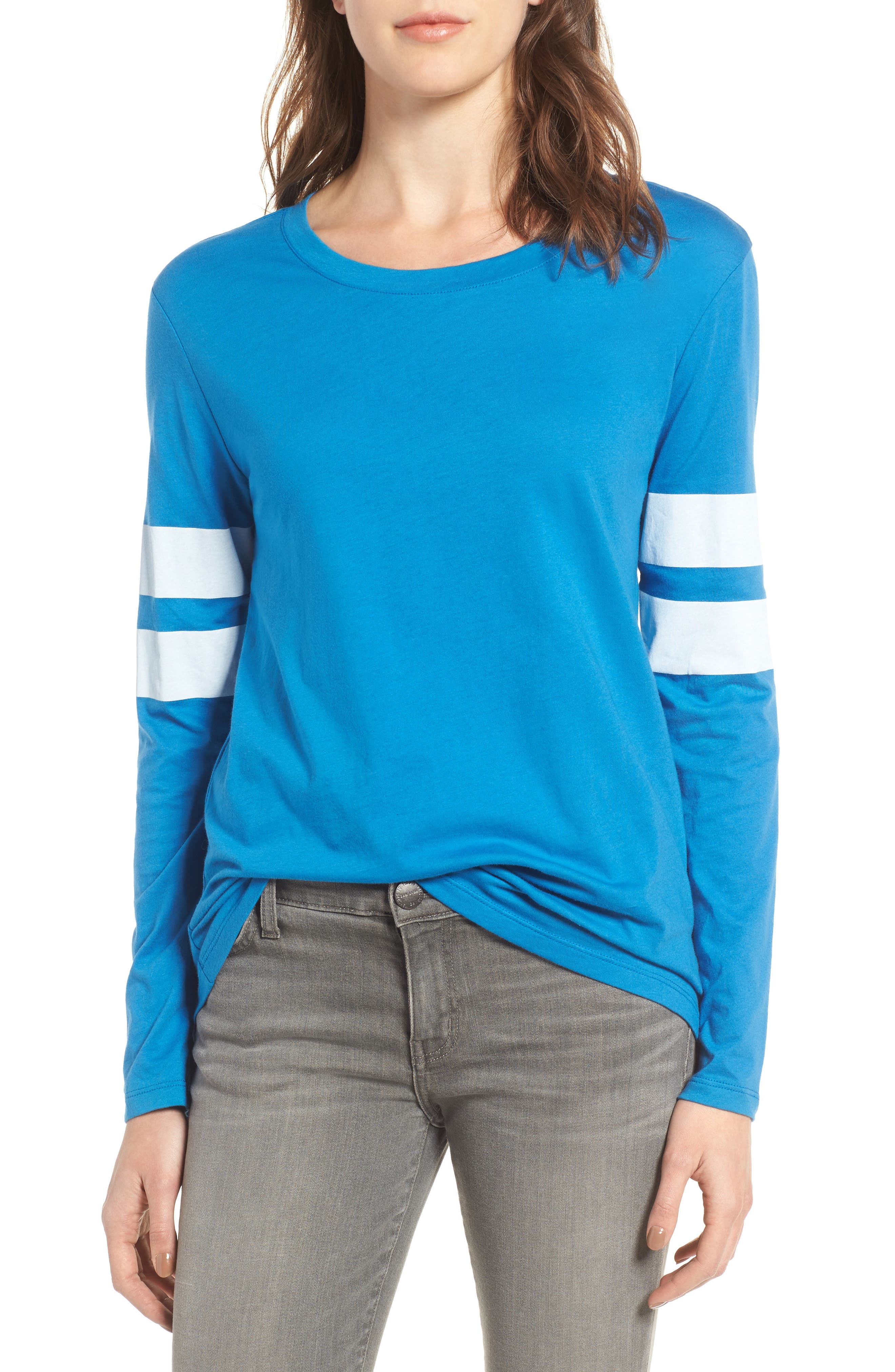 Varsity Stripe Cotton Tee,                             Main thumbnail 20, color,