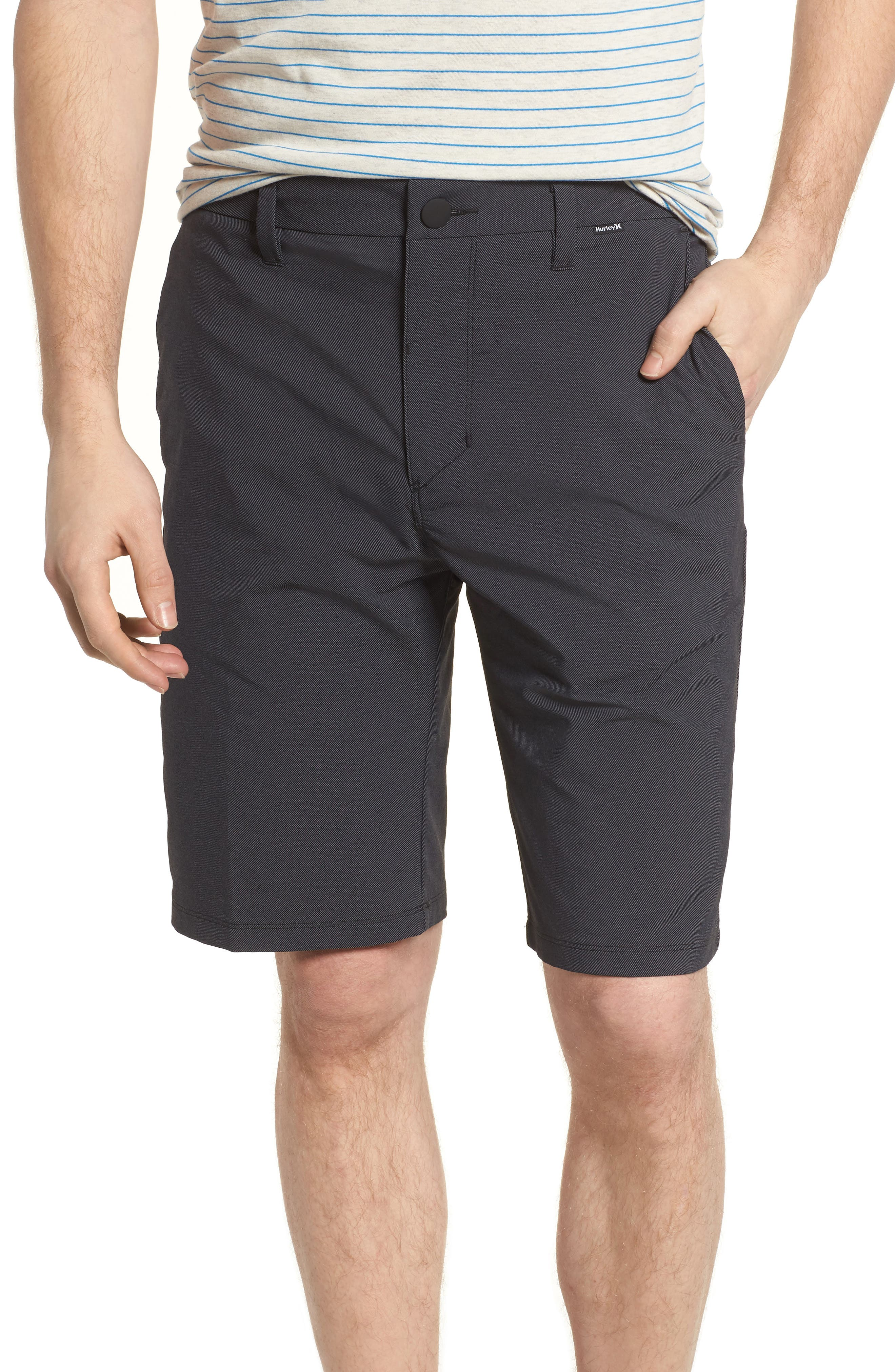 'Dry Out' Dri-FIT<sup>™</sup> Chino Shorts,                             Alternate thumbnail 2, color,                             NEW BLACK