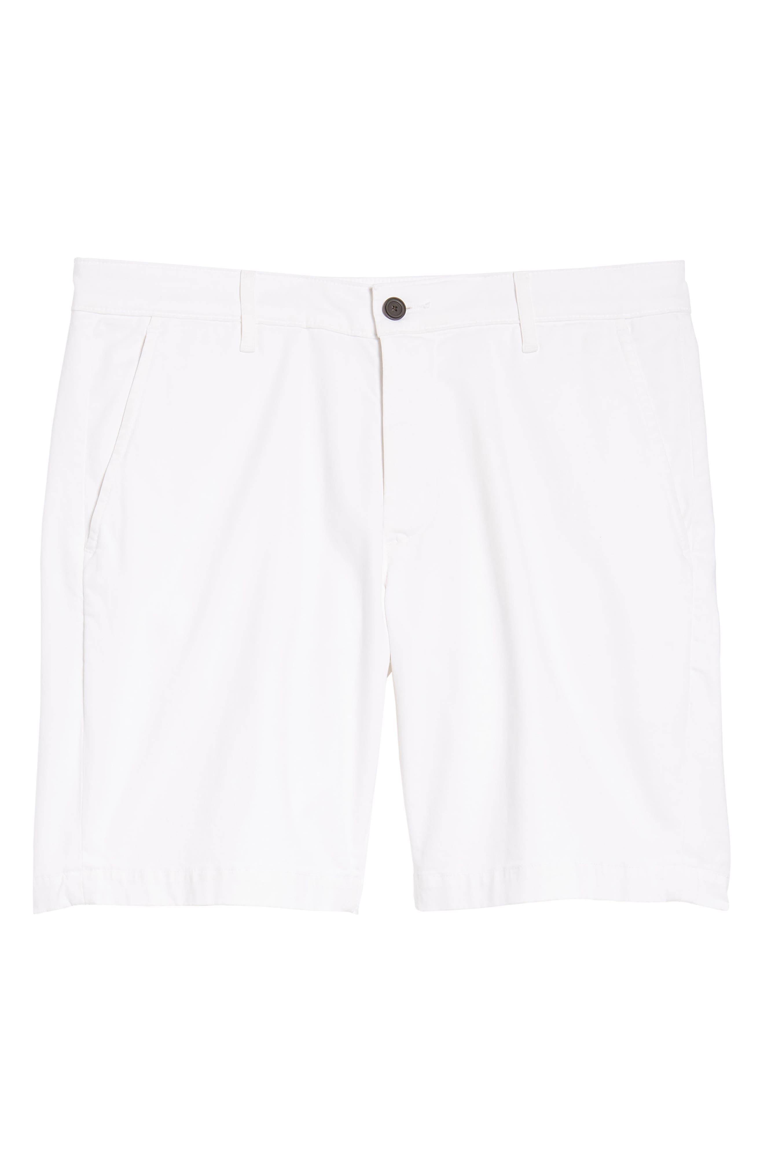 Wanderer Modern Slim Fit Shorts,                             Alternate thumbnail 6, color,                             WHITE