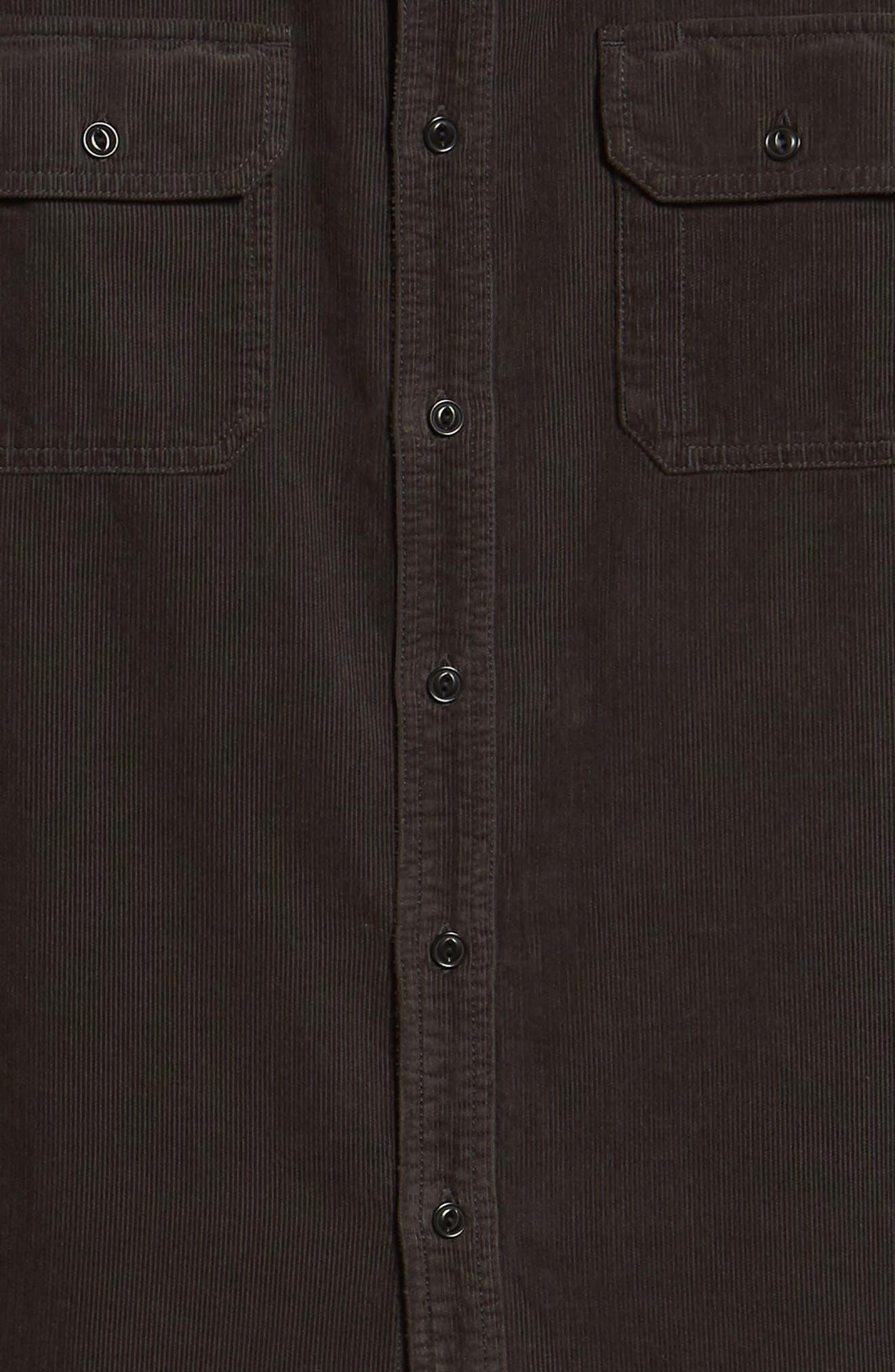 Benning Slim Fit Utility Shirt,                             Alternate thumbnail 6, color,                             GRAY STONE