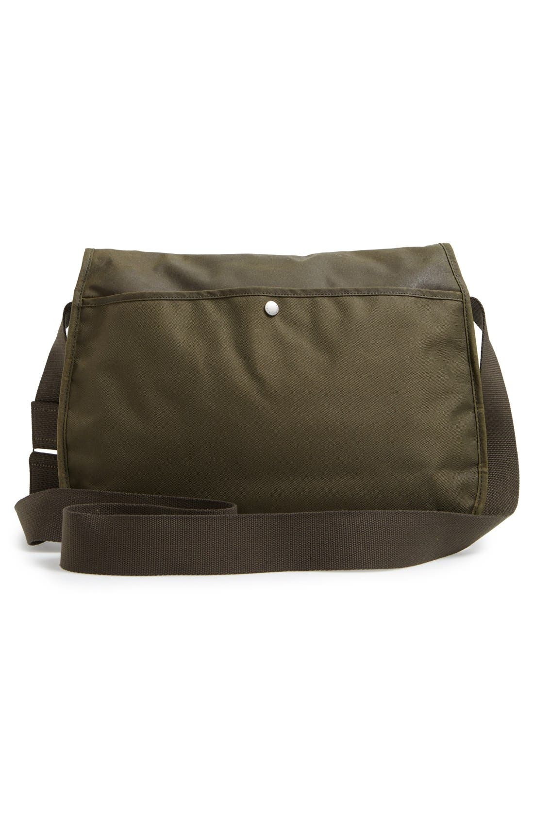 BARBOUR,                             Waxed Canvas Messenger Bag,                             Alternate thumbnail 6, color,                             340