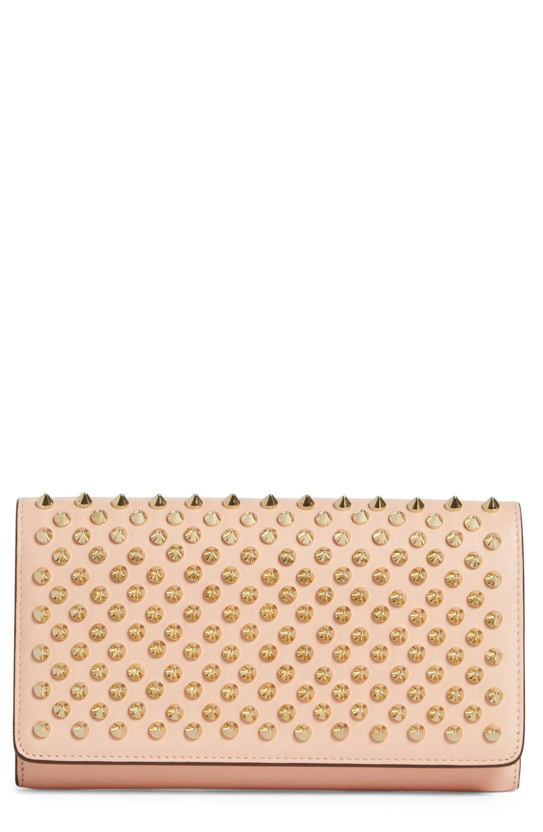 'Macaron' Studded Leather Continental Wallet,                             Main thumbnail 4, color,
