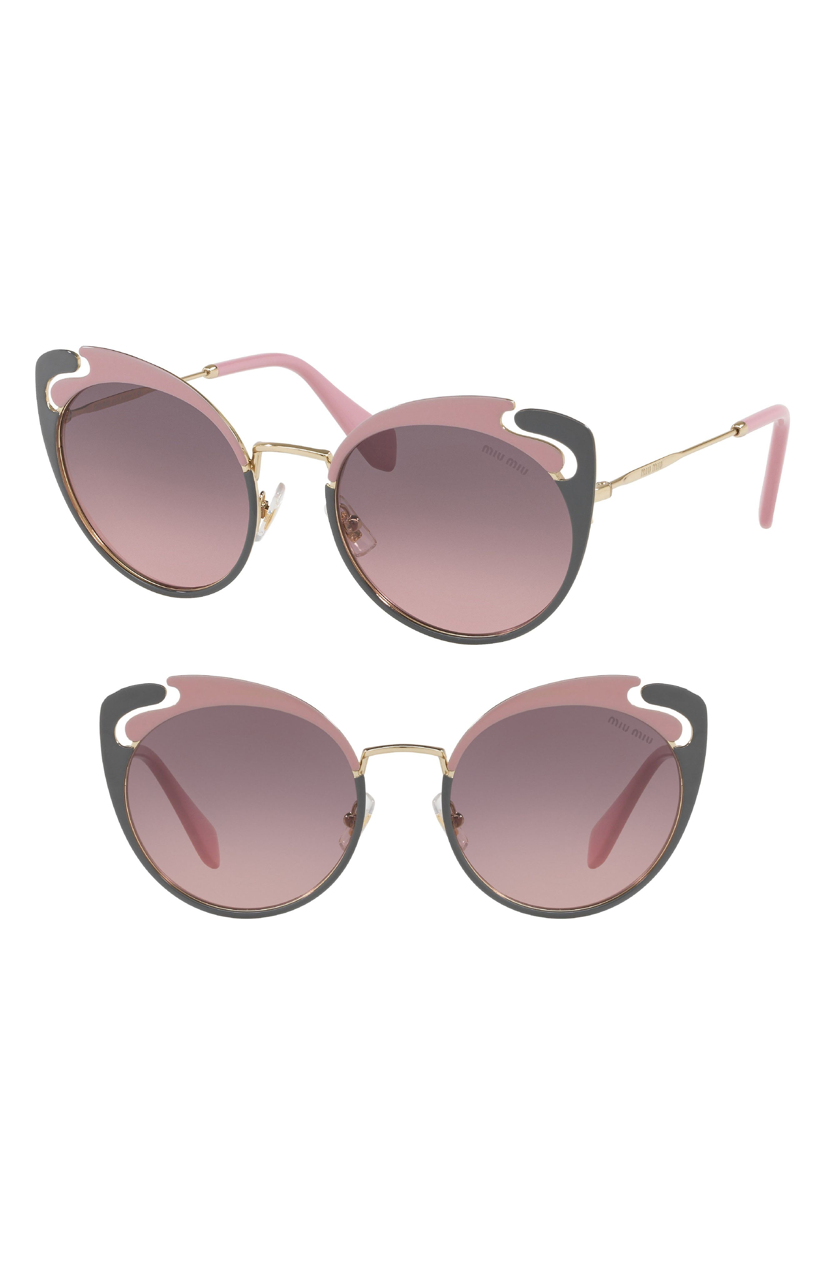 Miu Miu Noir Evolution 5m Cat Eye Sunglasses - Gold/ Pink Gradient