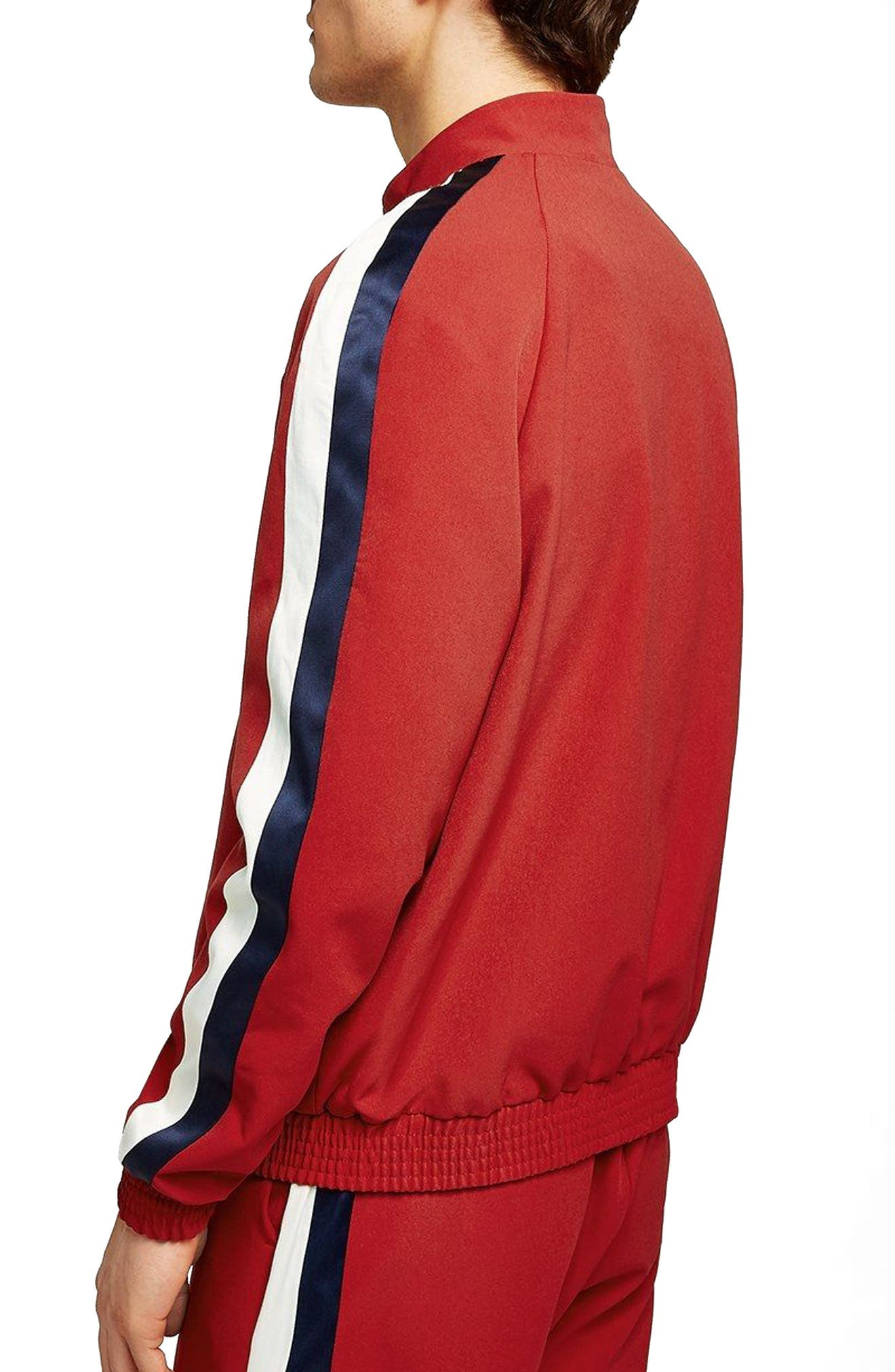 Side Stripe Track Jacket,                             Alternate thumbnail 2, color,                             RED MULTI