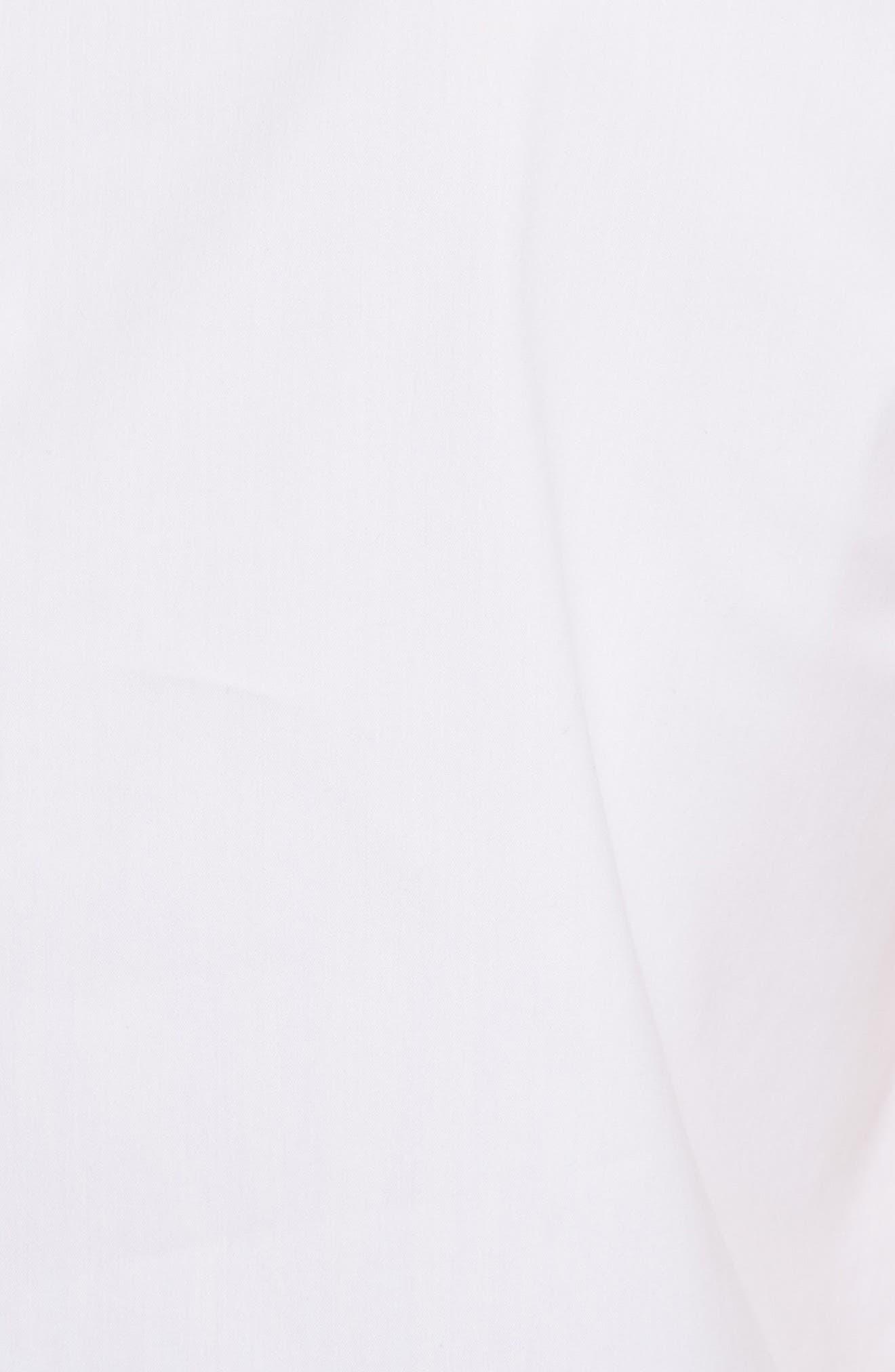 Pierced Cotton Poplin Shirt,                             Alternate thumbnail 5, color,                             100