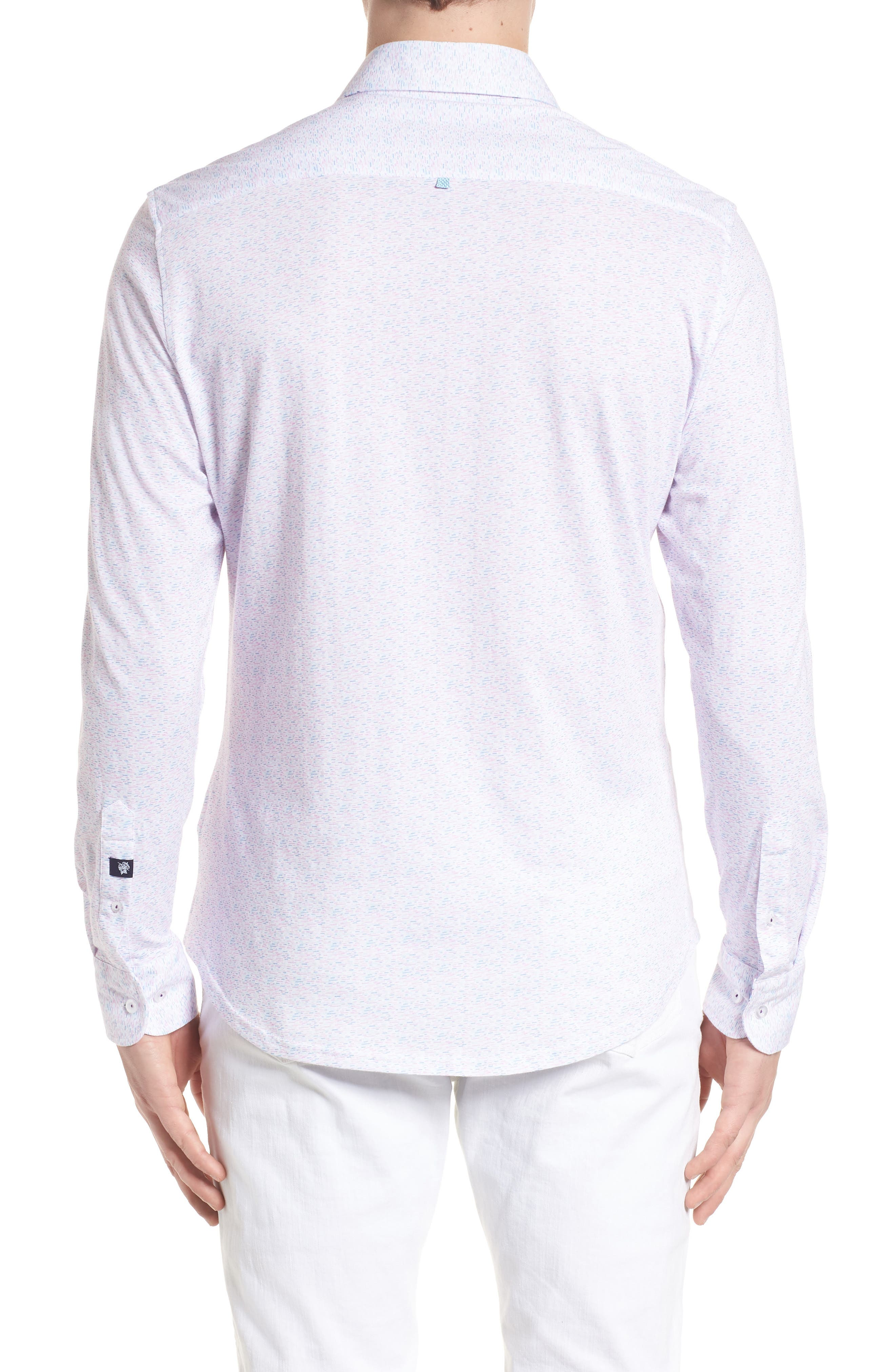 Contemporary Fit Print Sport Shirt,                             Alternate thumbnail 2, color,                             LAVENDER