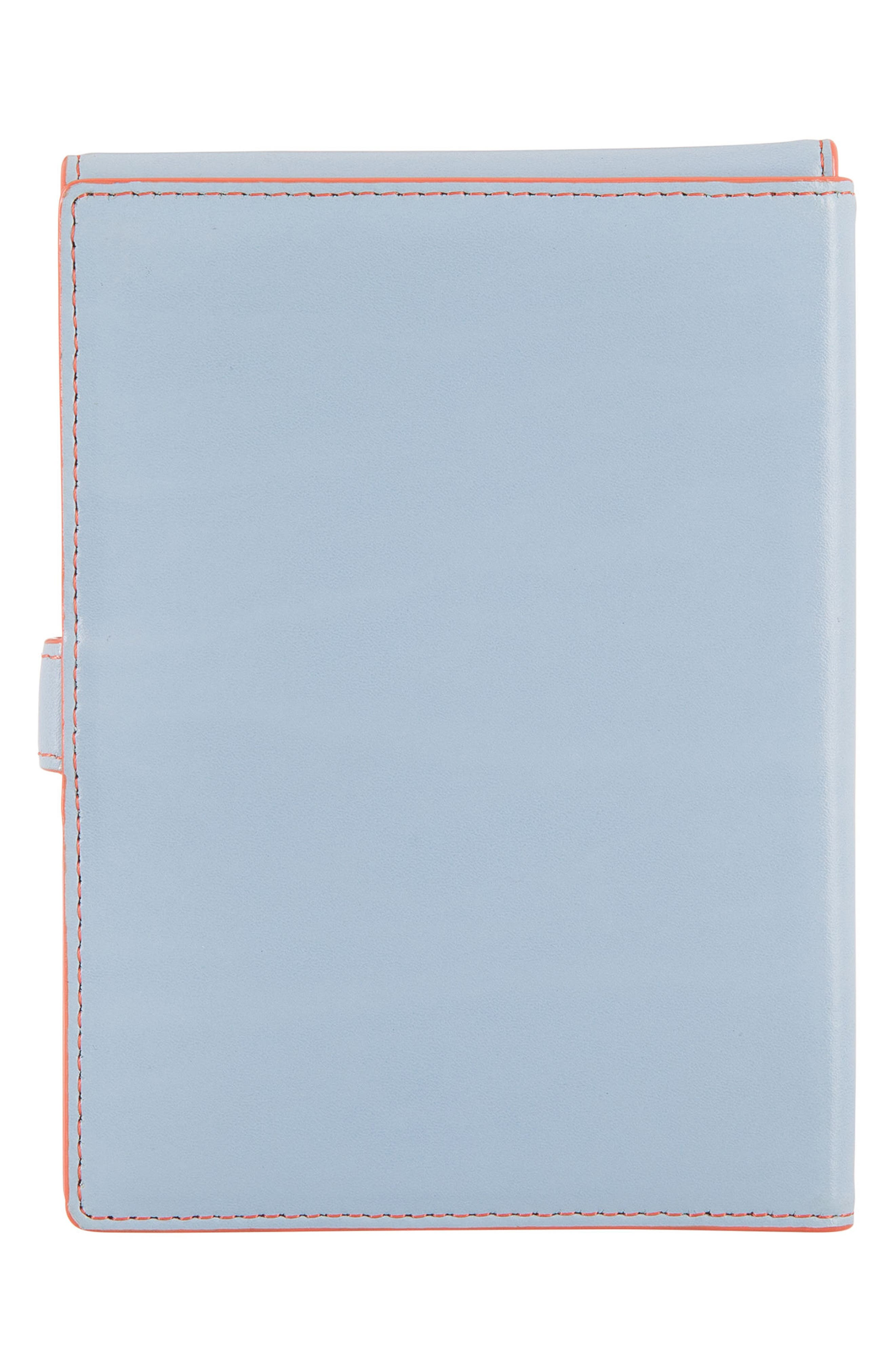 Audrey RFID Leather Passport Wallet,                             Alternate thumbnail 3, color,                             400