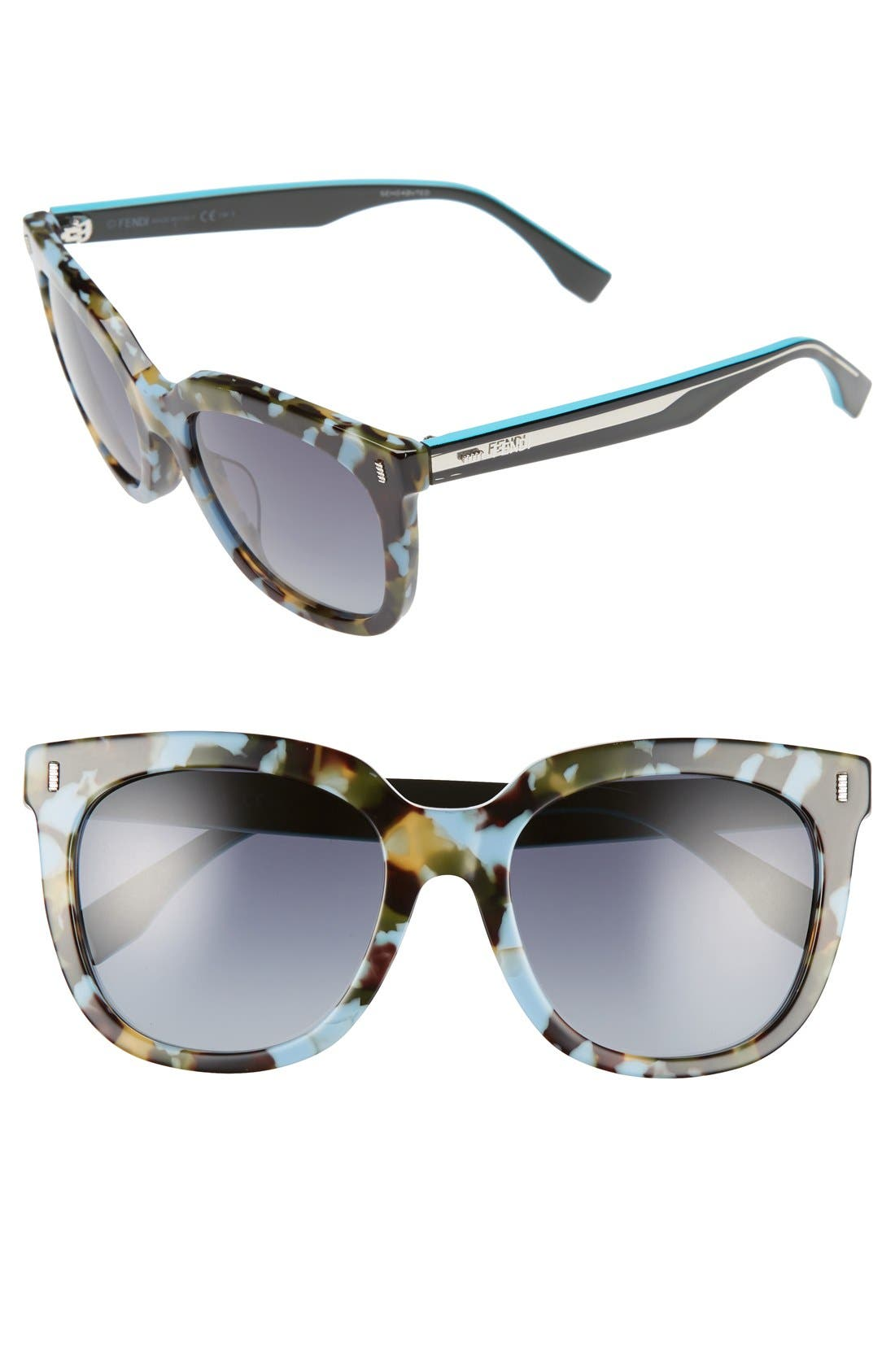 54mm Retro Sunglasses,                             Main thumbnail 1, color,