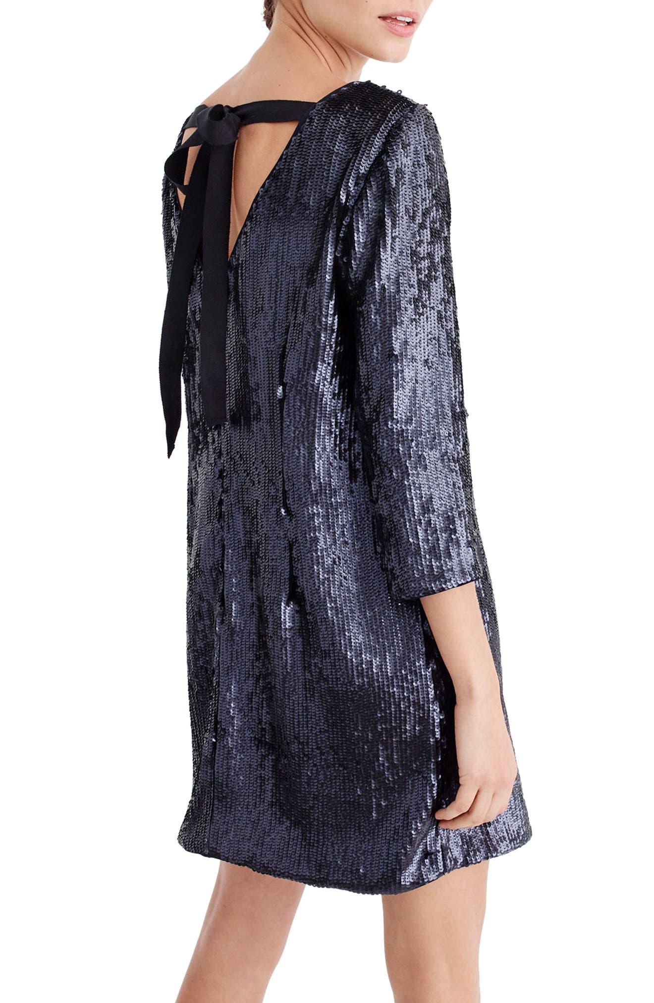 V-Back Sequin Dress,                             Alternate thumbnail 2, color,                             400