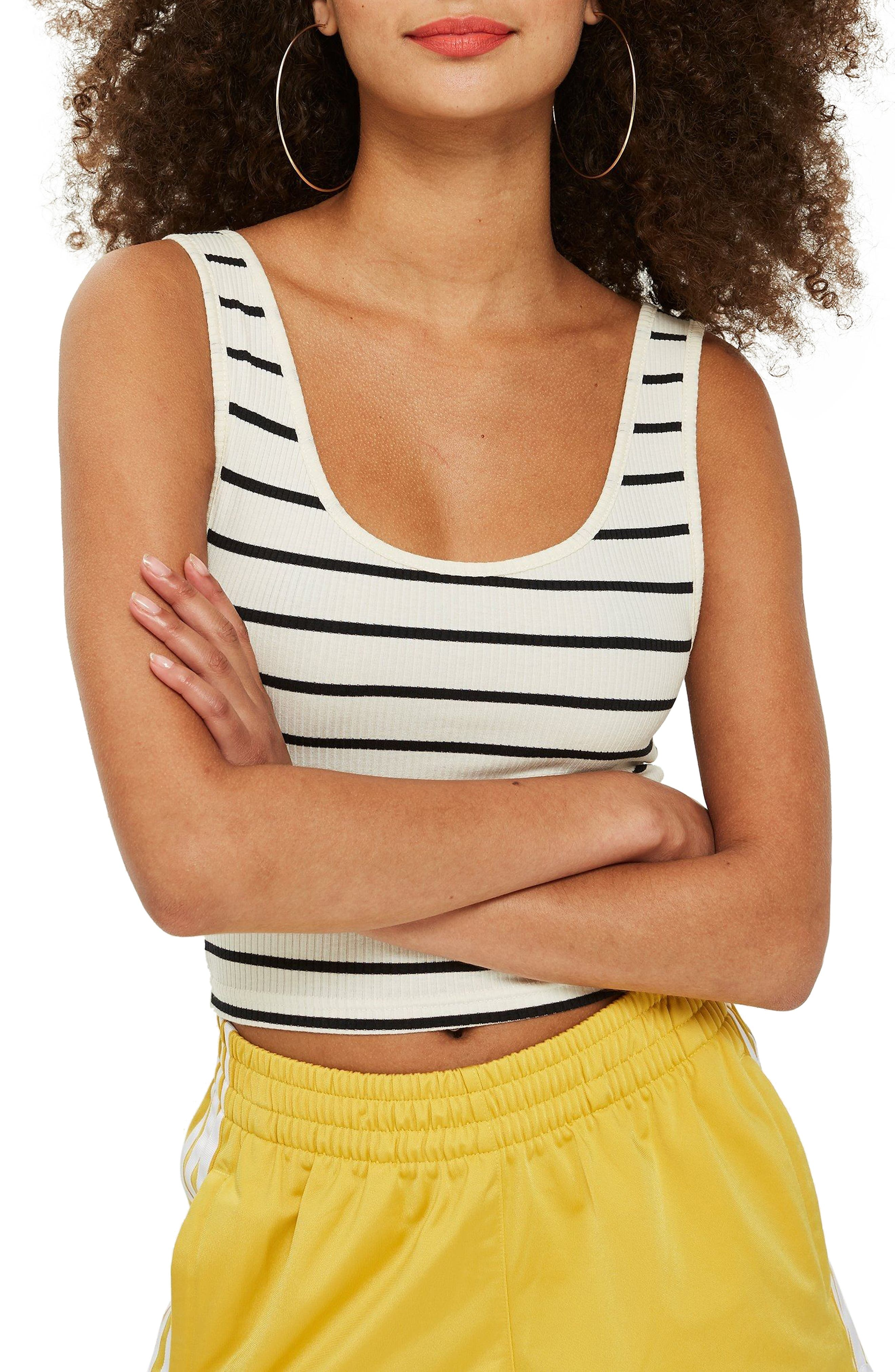 Strappy Scoopback Crop Tank,                             Main thumbnail 1, color,