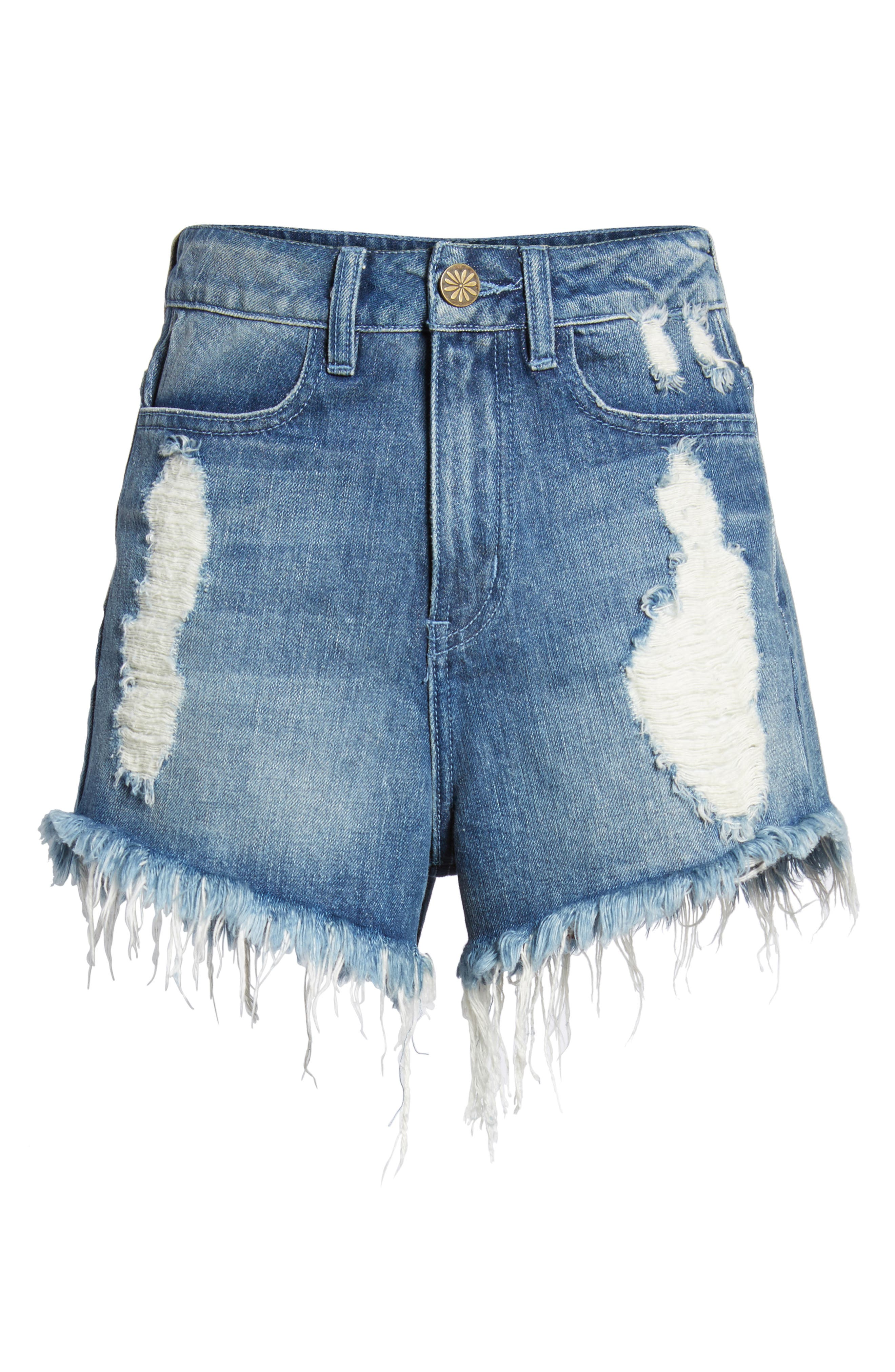 Wyoming High Waist Cutoff Denim Shorts,                             Alternate thumbnail 6, color,                             400
