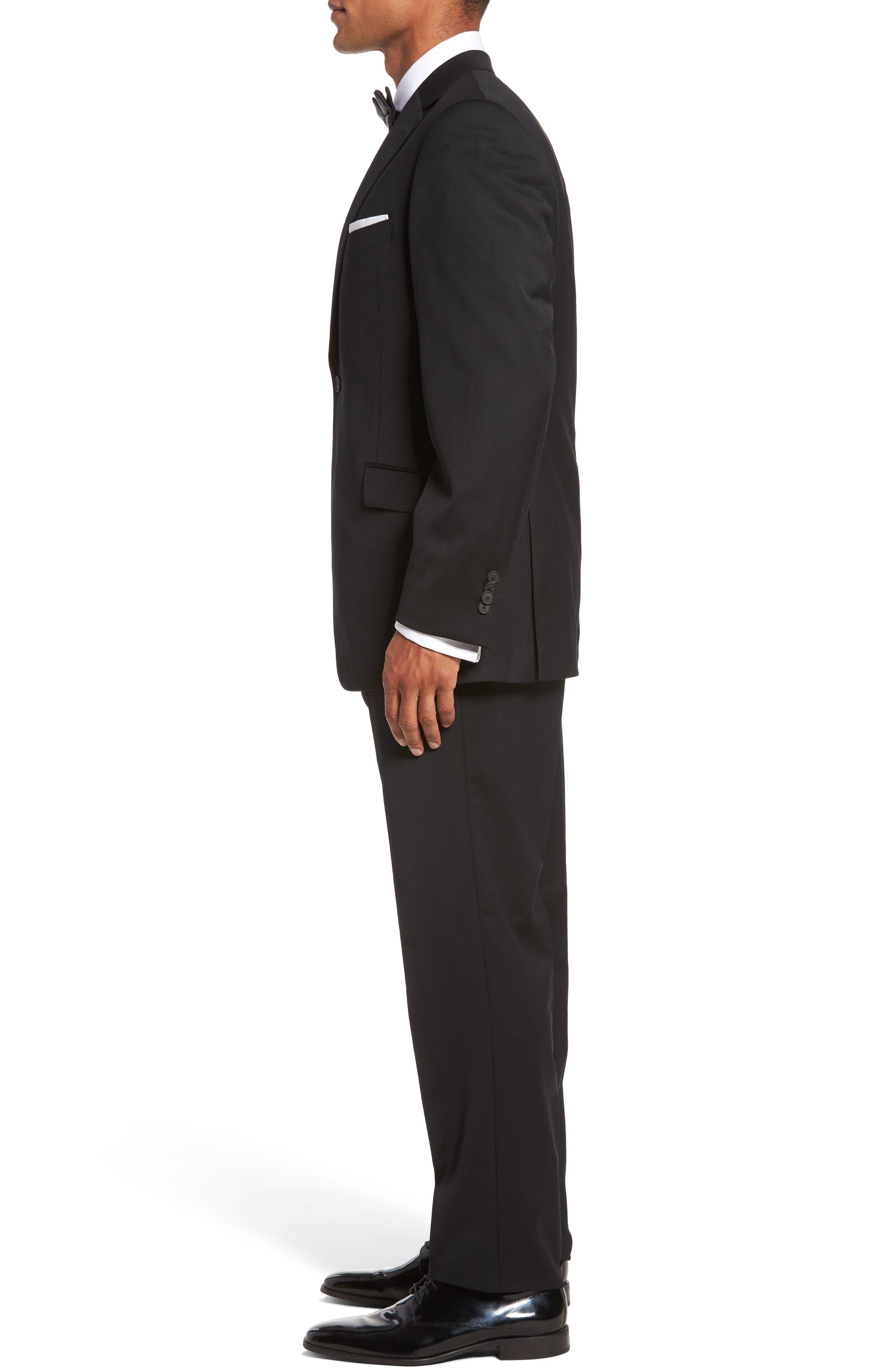 Keidis Aim Classic Fit Stretch Wool Suit,                             Alternate thumbnail 3, color,                             BLACK