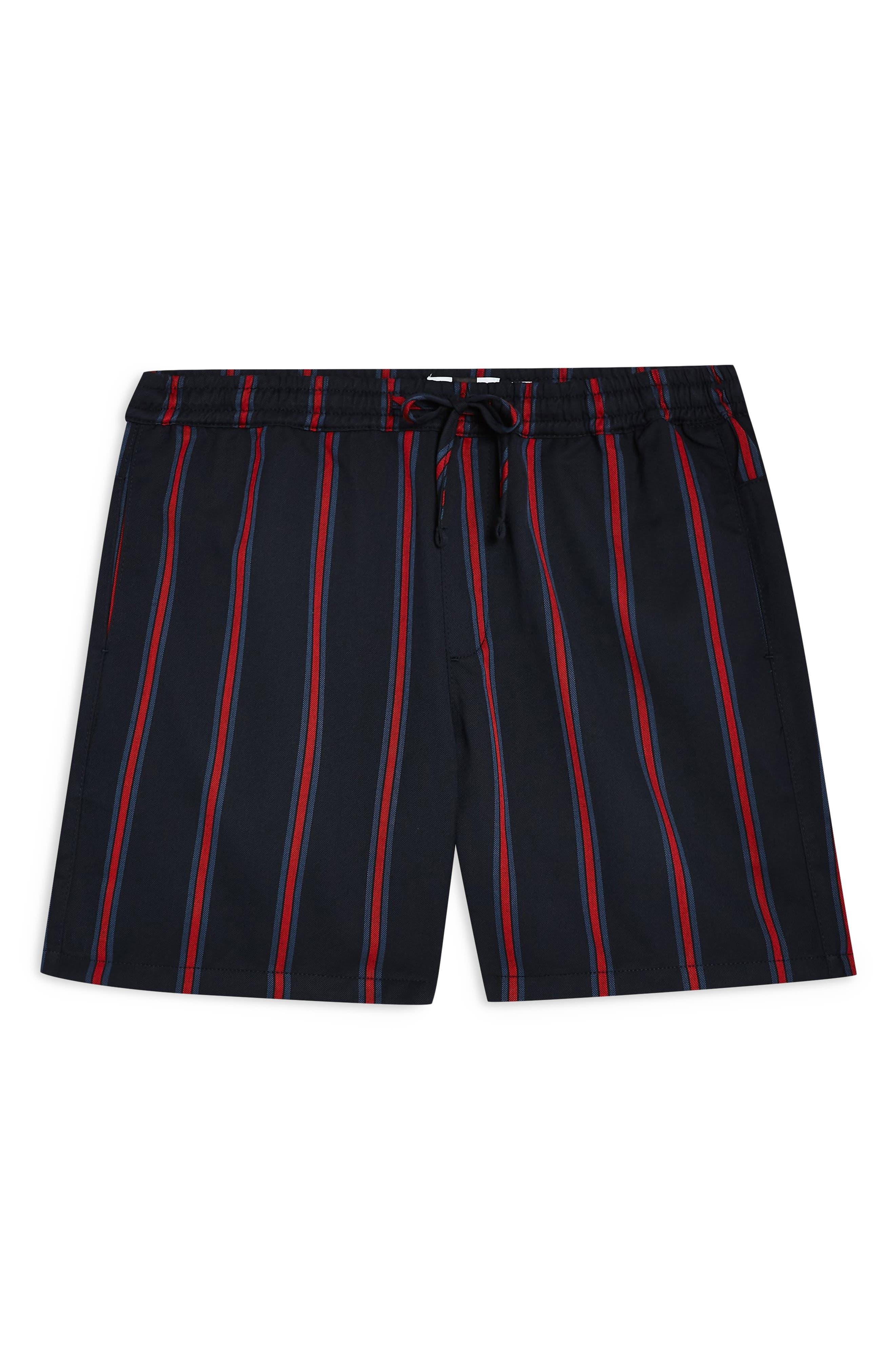 Stripe Swim Shorts, Main, color, NAVY BLUE MULTI