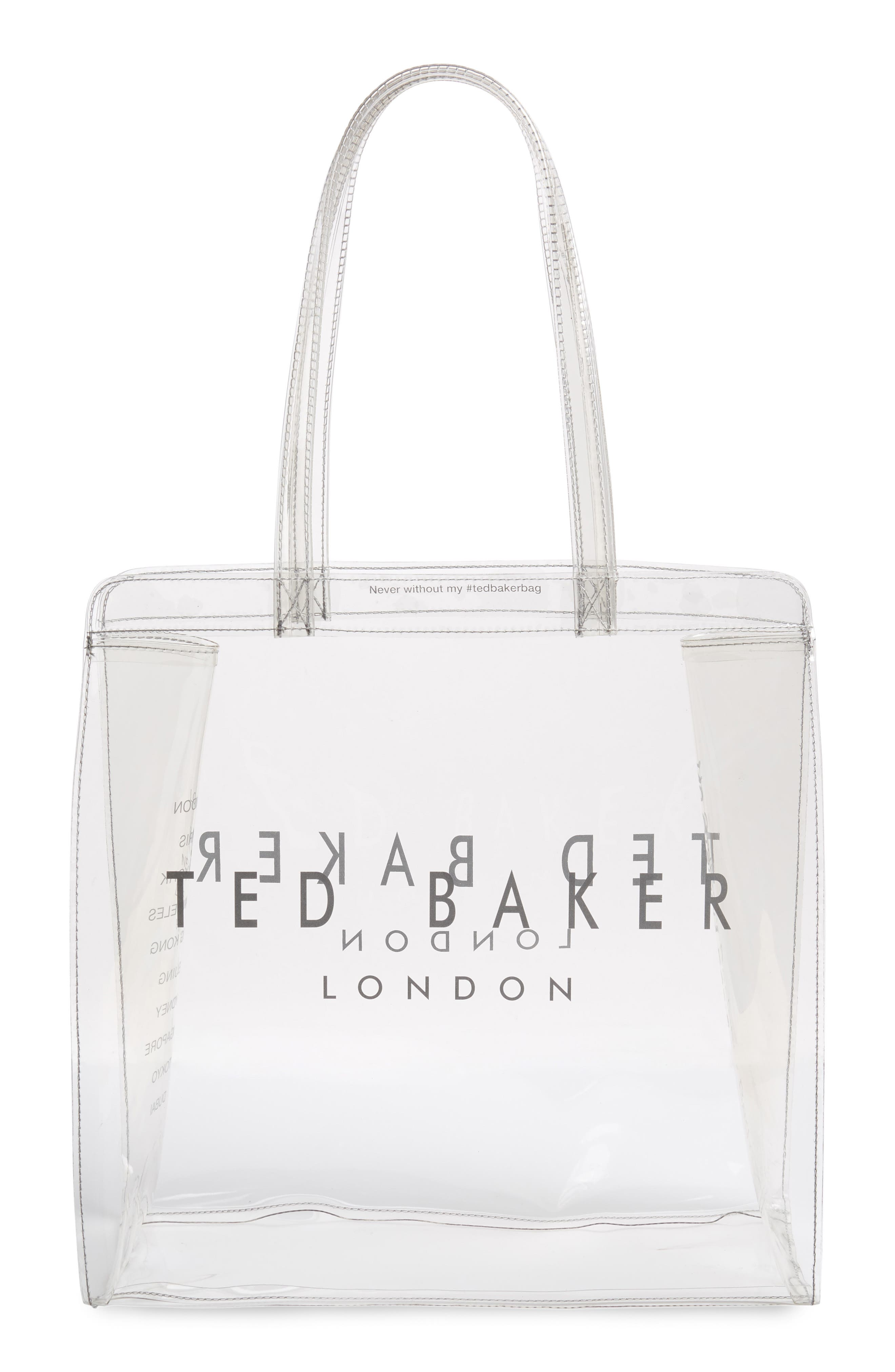 Large Clear Icon Tote,                             Main thumbnail 1, color,                             CLEAR