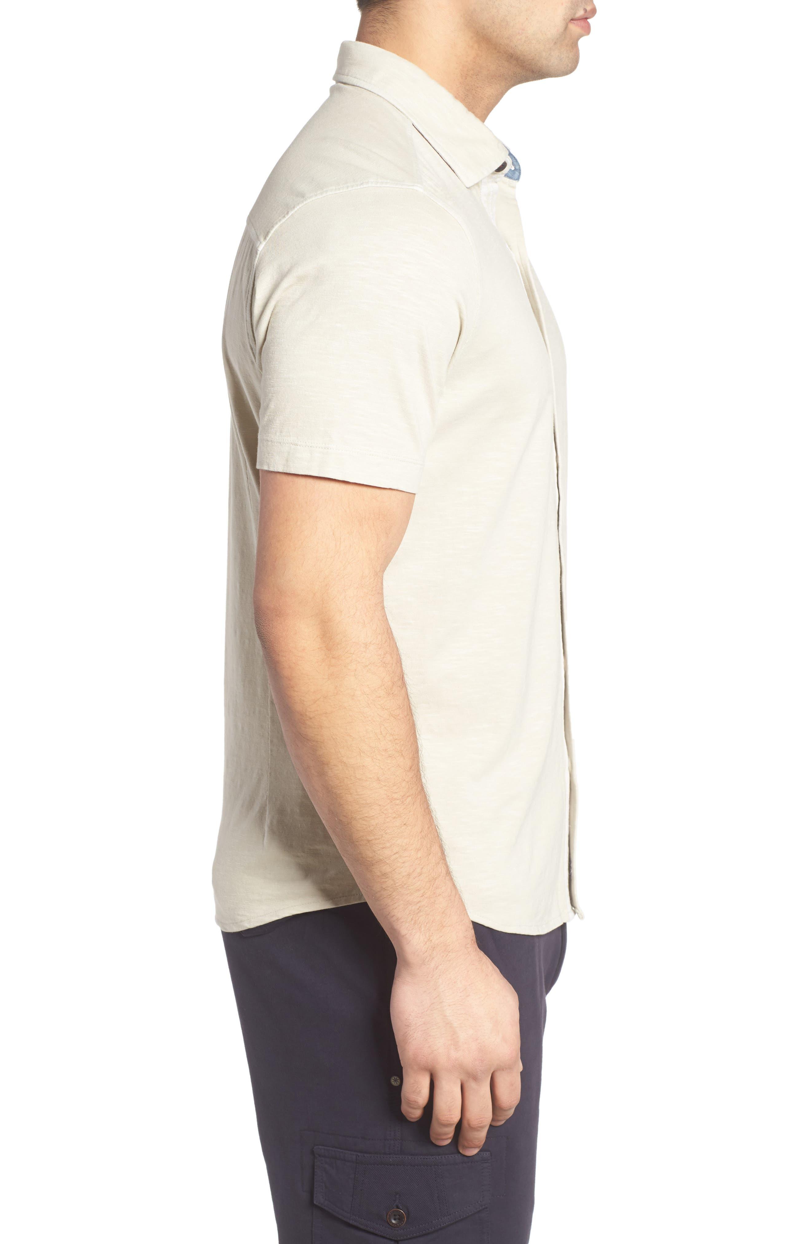 McAdams Slub Jersey Sport Shirt,                             Alternate thumbnail 8, color,