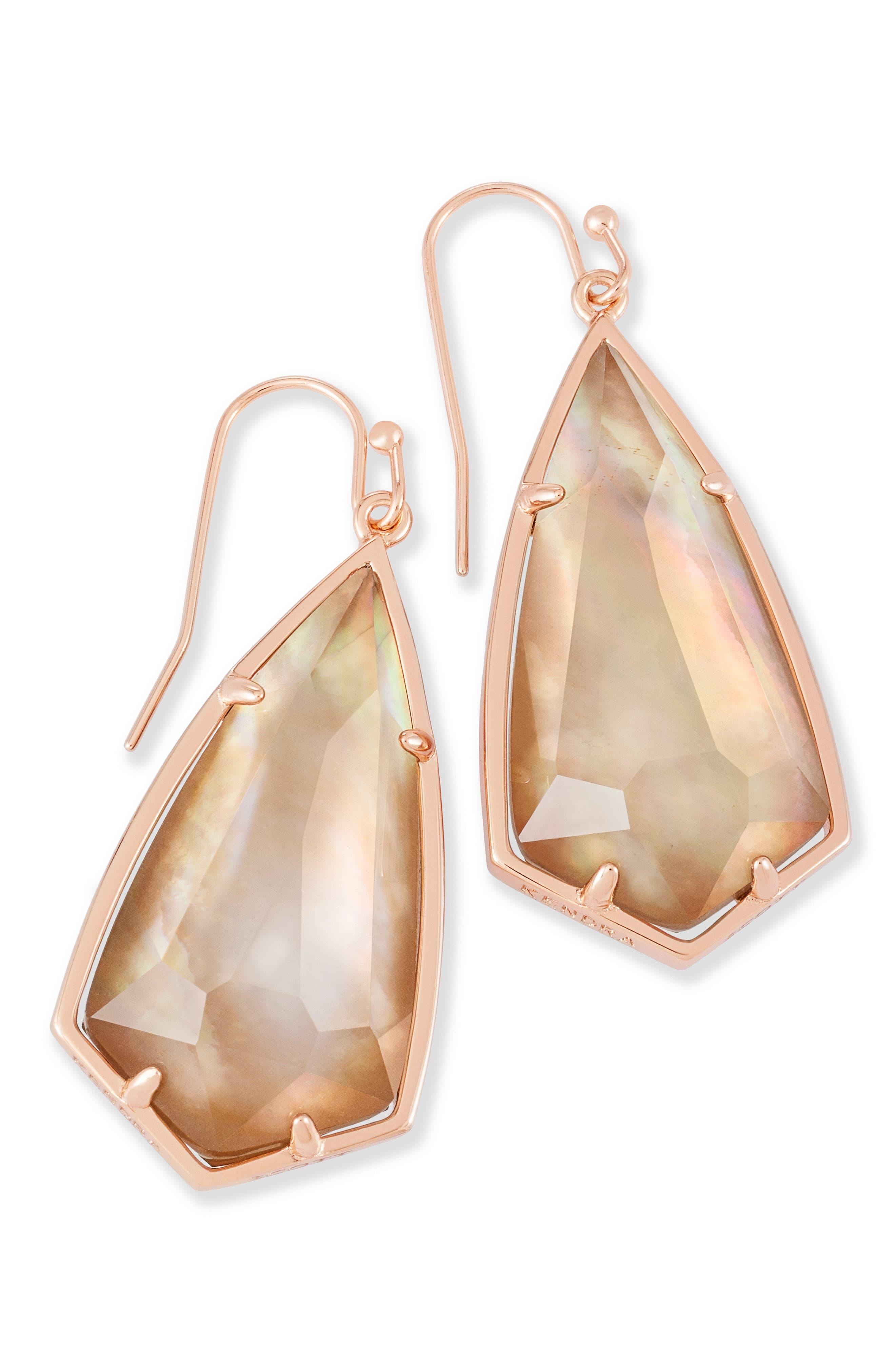 Carla Semiprecious Stone Drop Earrings,                             Alternate thumbnail 29, color,