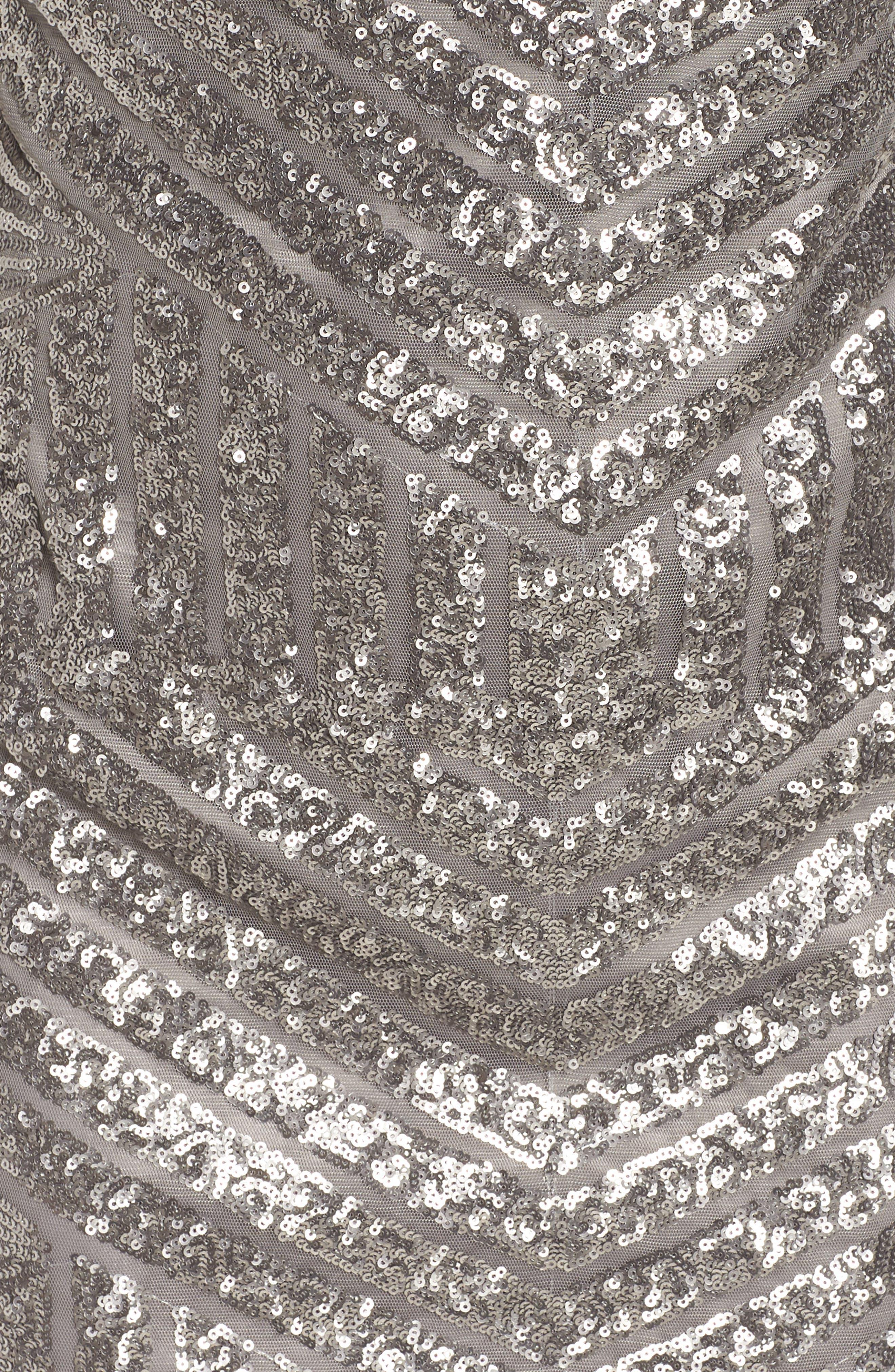 Sequin Embellished Shift Dress,                             Alternate thumbnail 6, color,                             040