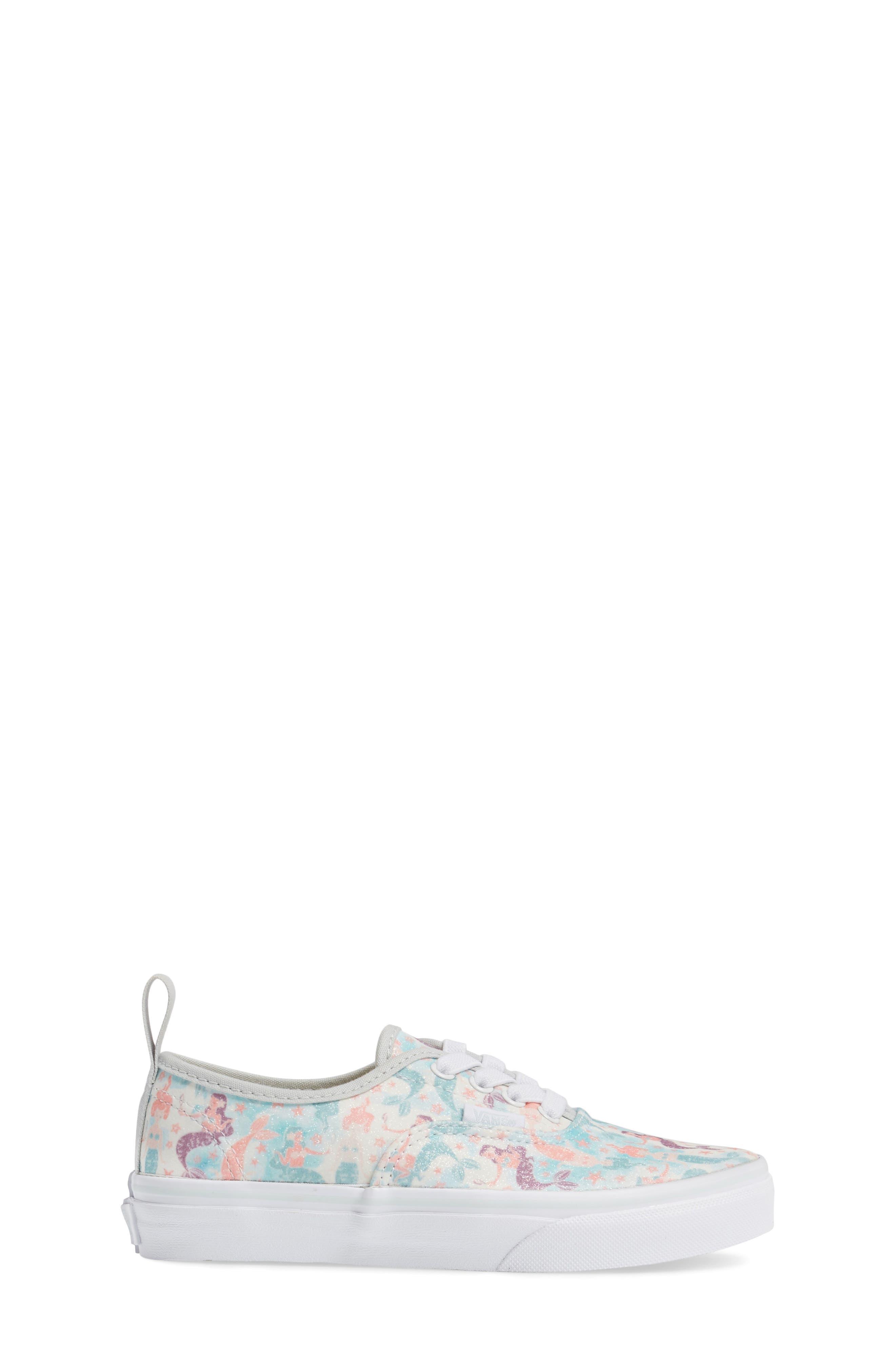 Authentic Elastic Lace Sneaker,                             Alternate thumbnail 3, color,                             300