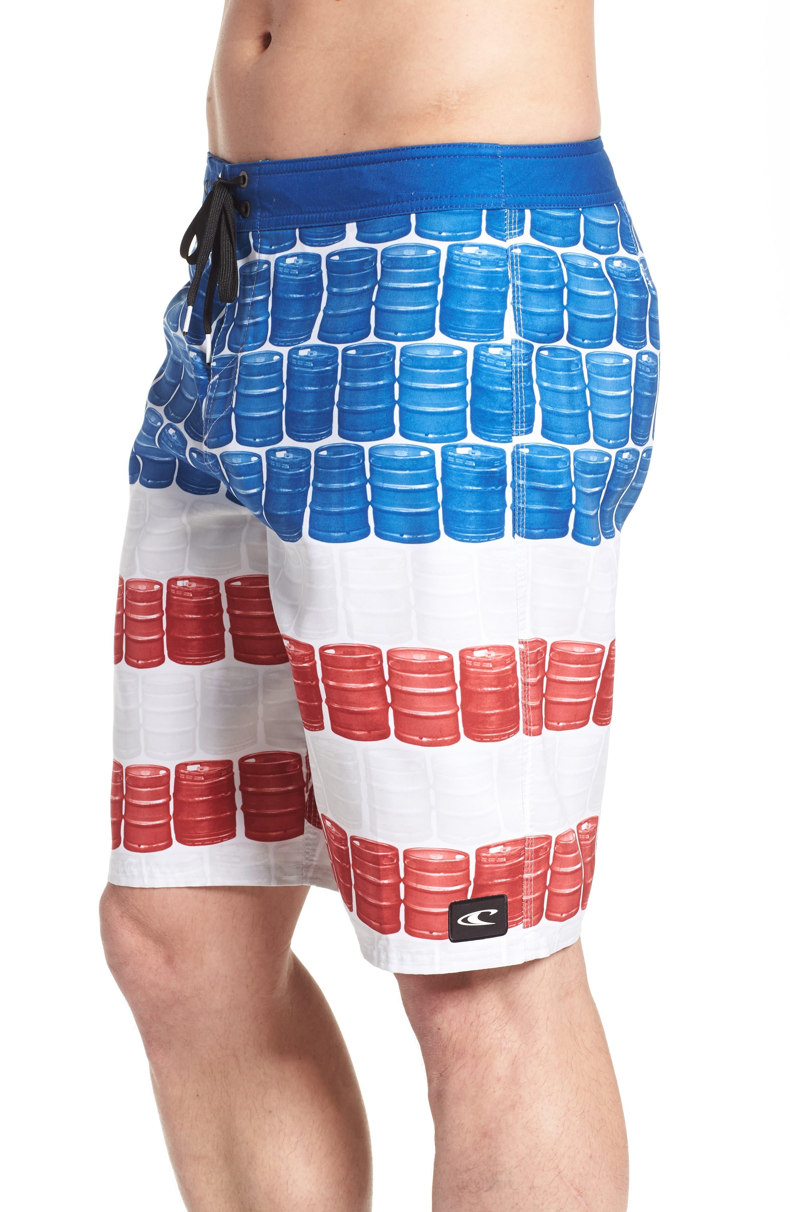 Kegleg Board Shorts,                             Alternate thumbnail 4, color,                             840