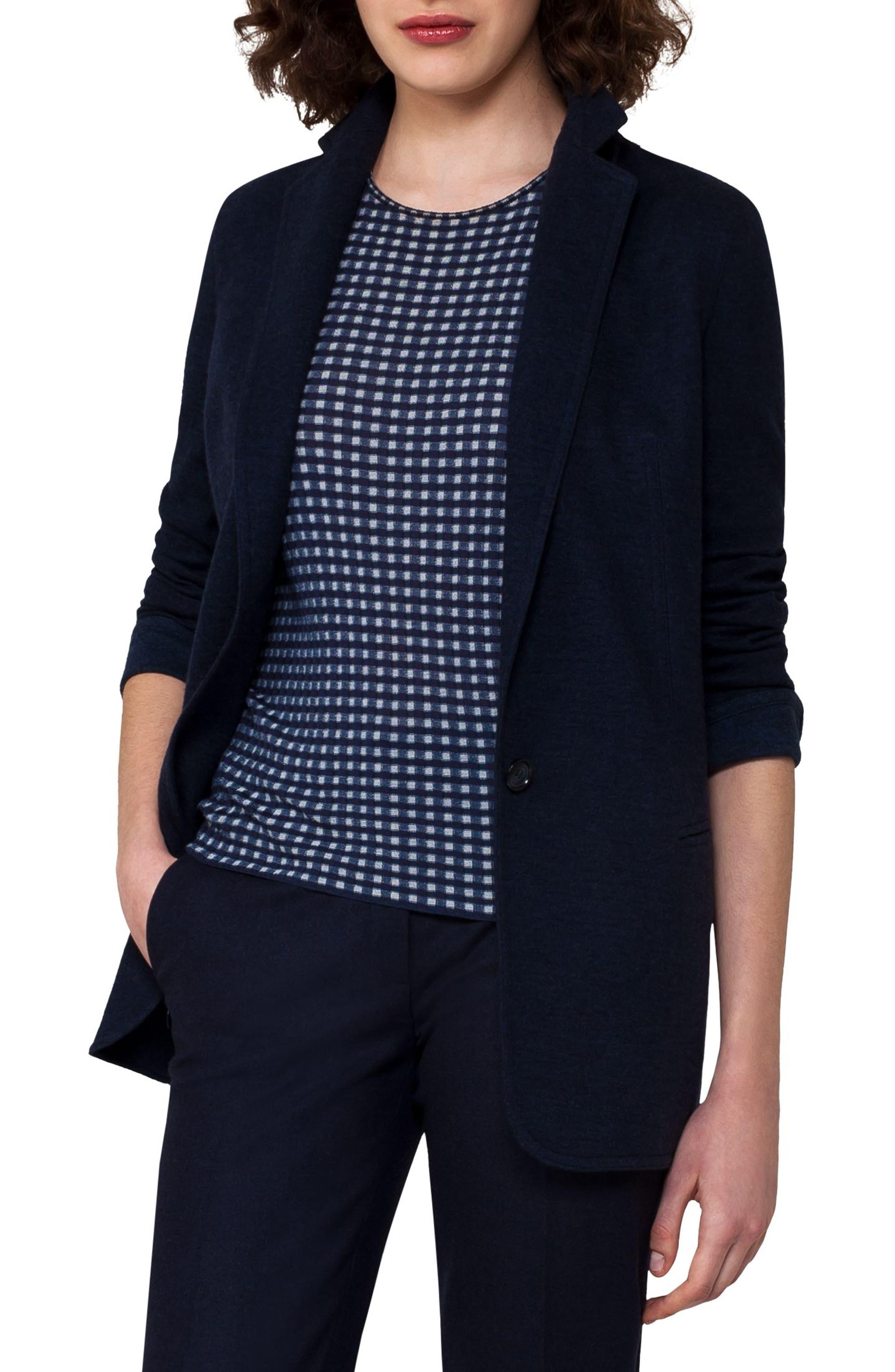 Cashmere Blend Jersey Jacket,                             Main thumbnail 1, color,                             400
