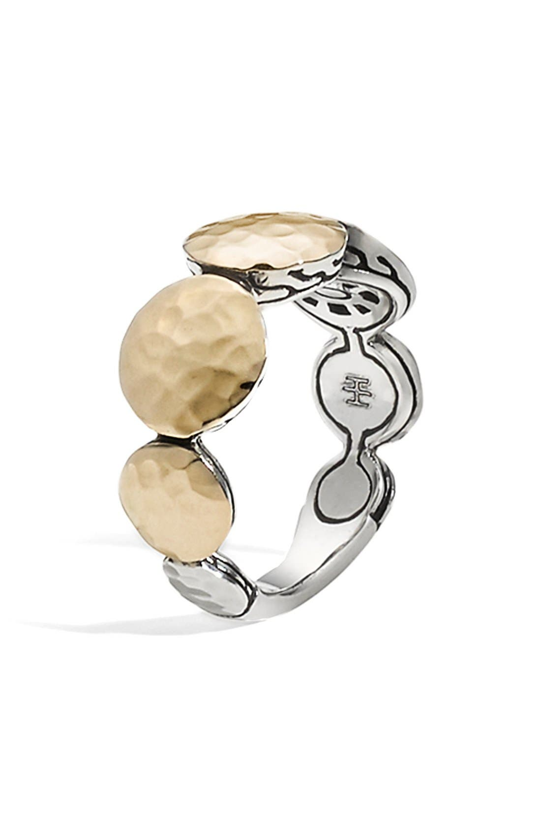 'Dot' Tapered Ring,                         Main,                         color, SILVER/ GOLD